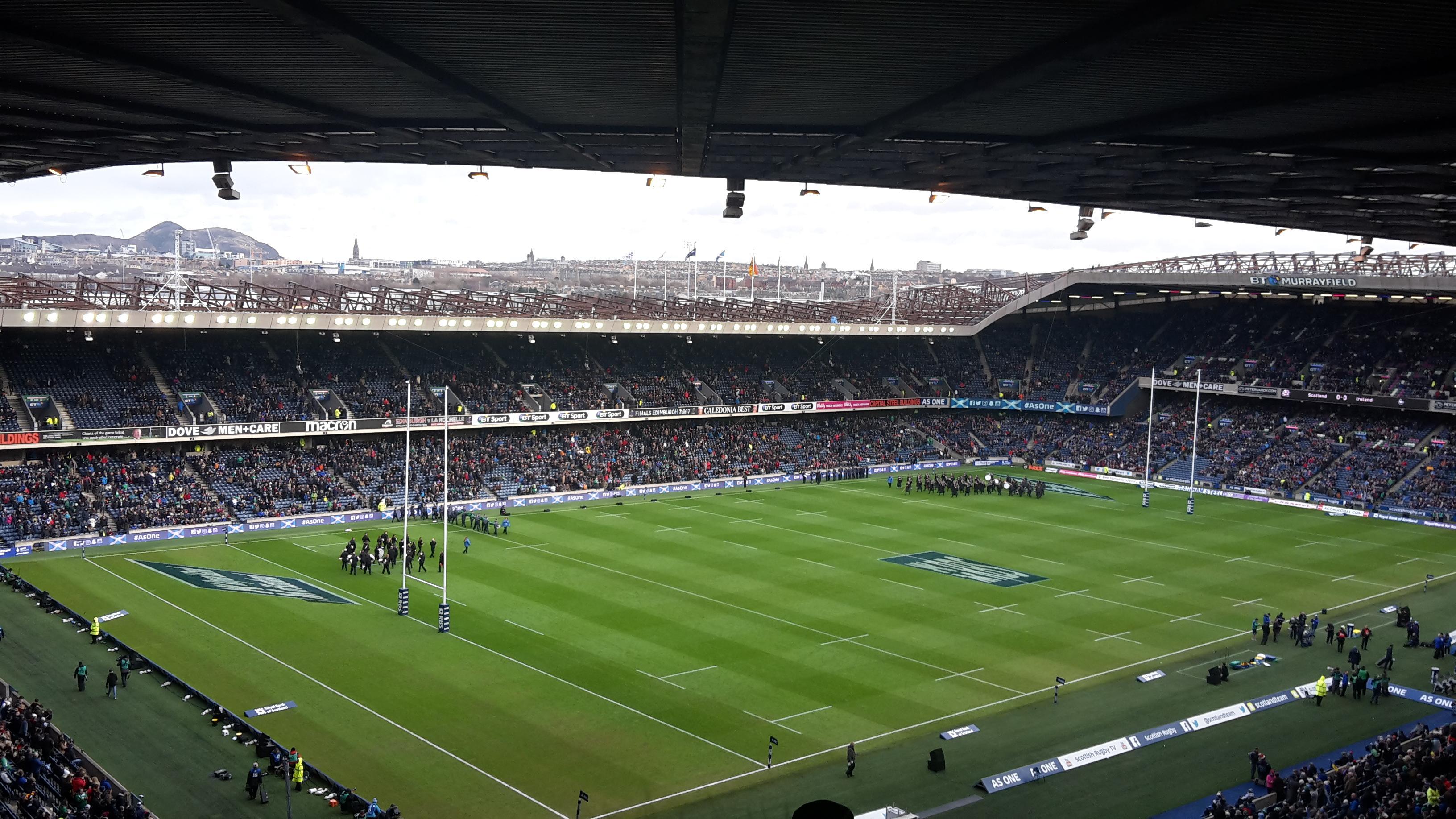 Murrayfield Stadium Section 40 Row RR Seat 16
