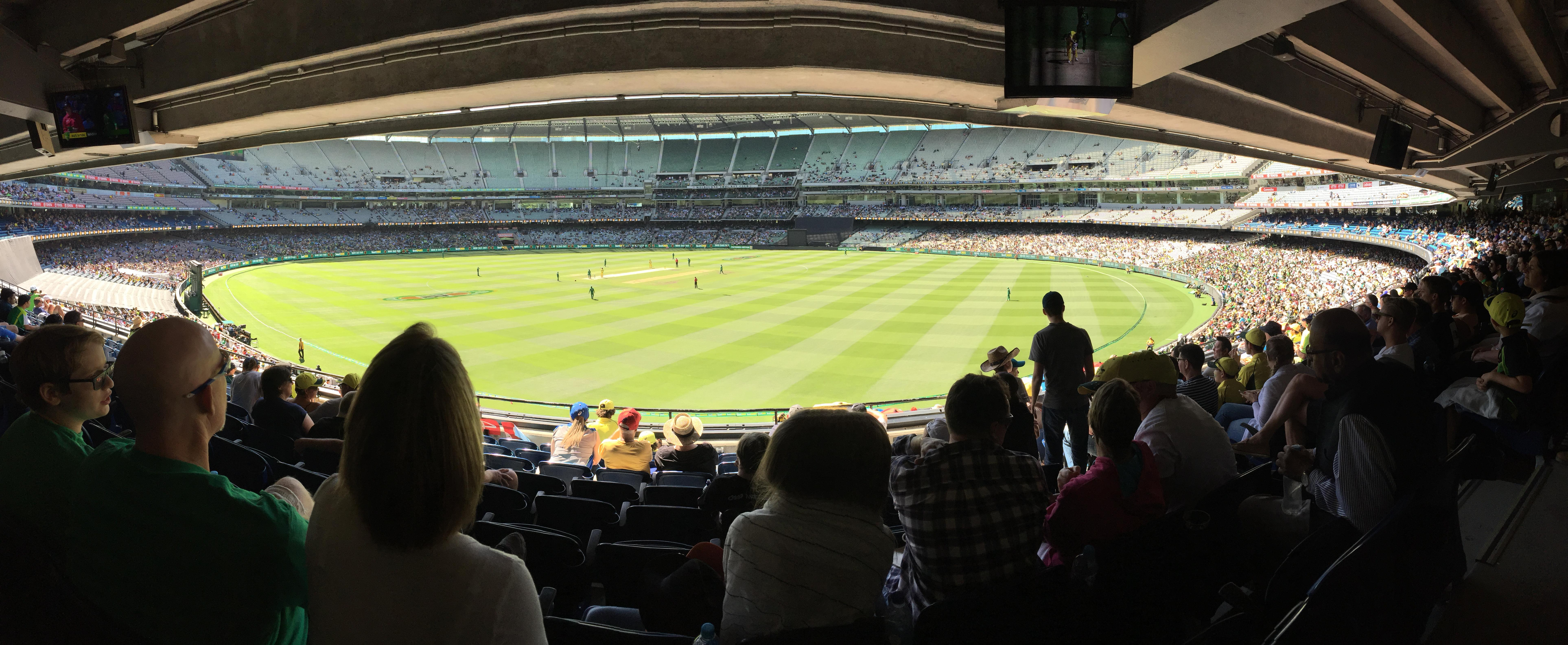 Melbourne Cricket Ground Section N13 Row J Seat 18