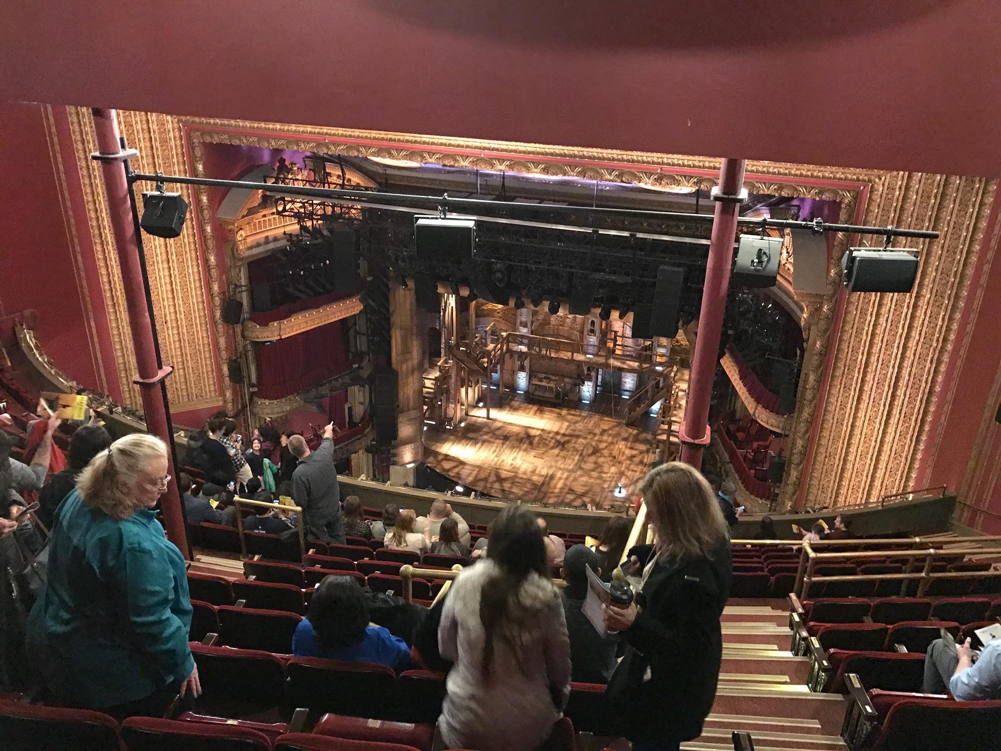CIBC Theatre Section Balcony RC Row Q Seat 422