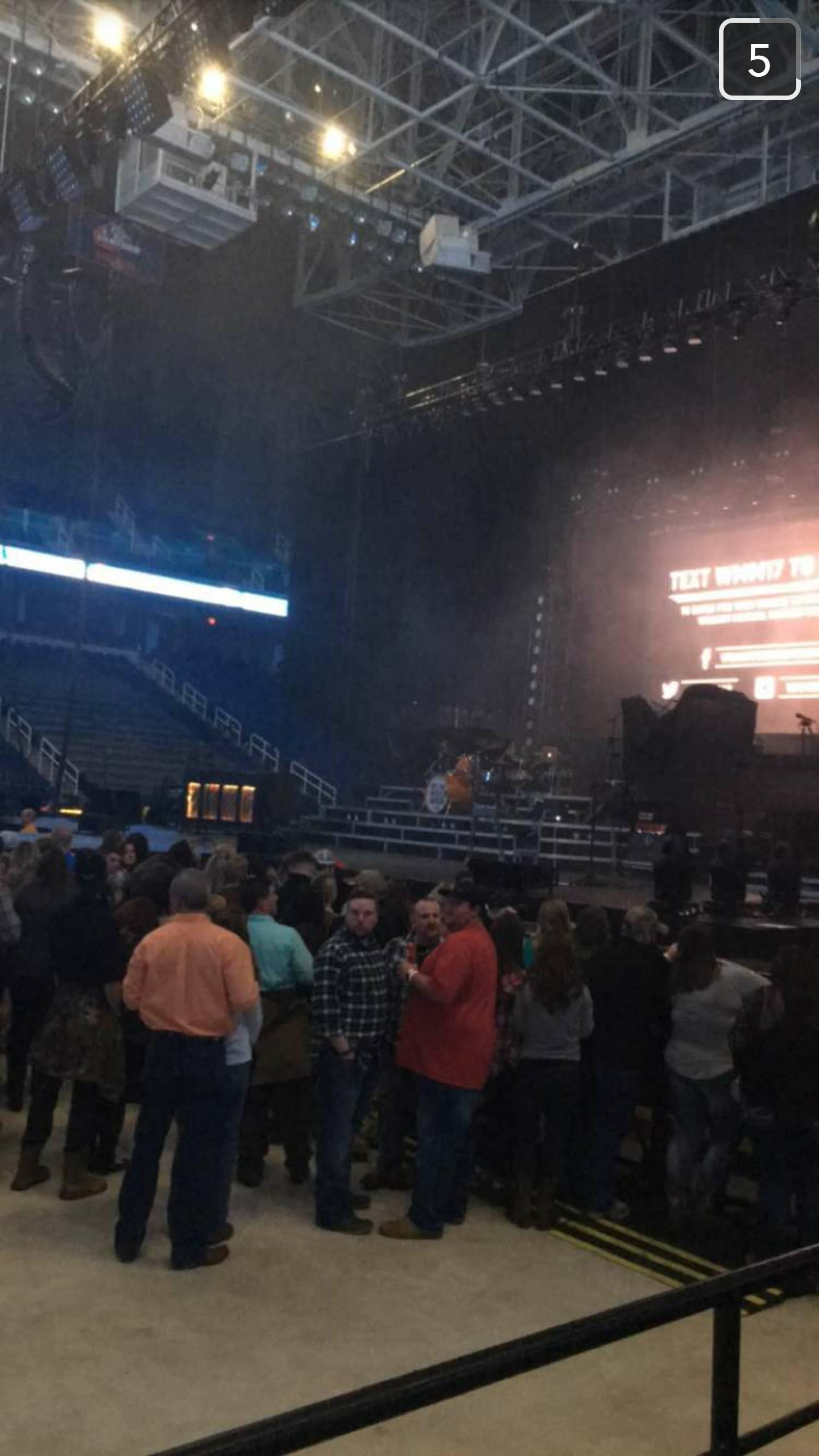 Greensboro Coliseum Section 125 Row D Seat 12
