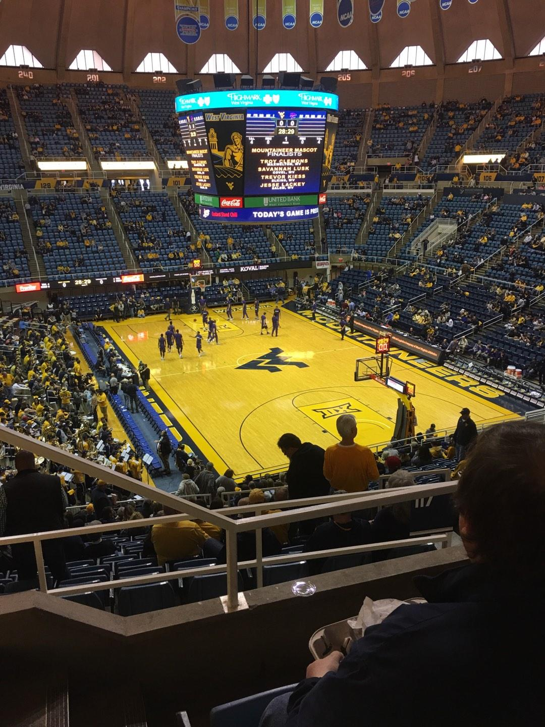 WVU Coliseum Section 223 Row C Seat 10