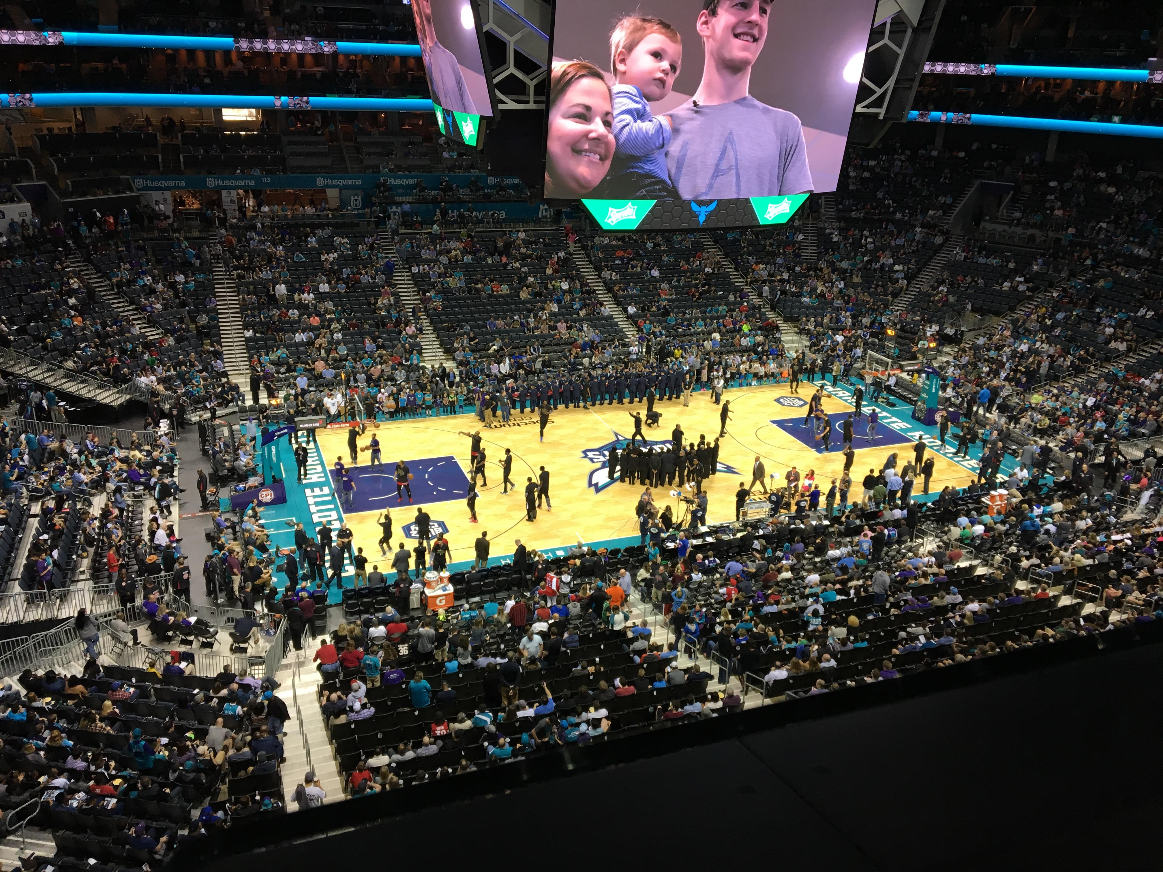 Spectrum Center Section 210 Row A Seat 14