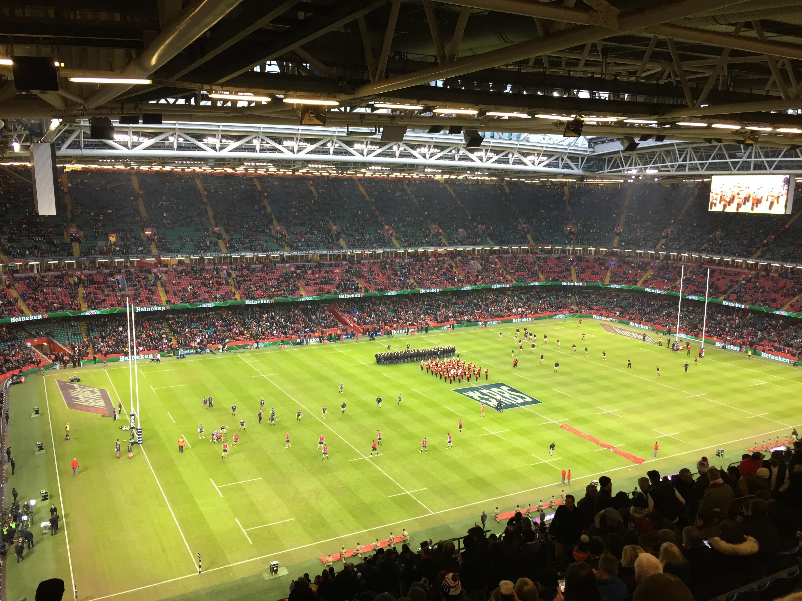 Principality Stadium Section U32 Row 29 Seat 12
