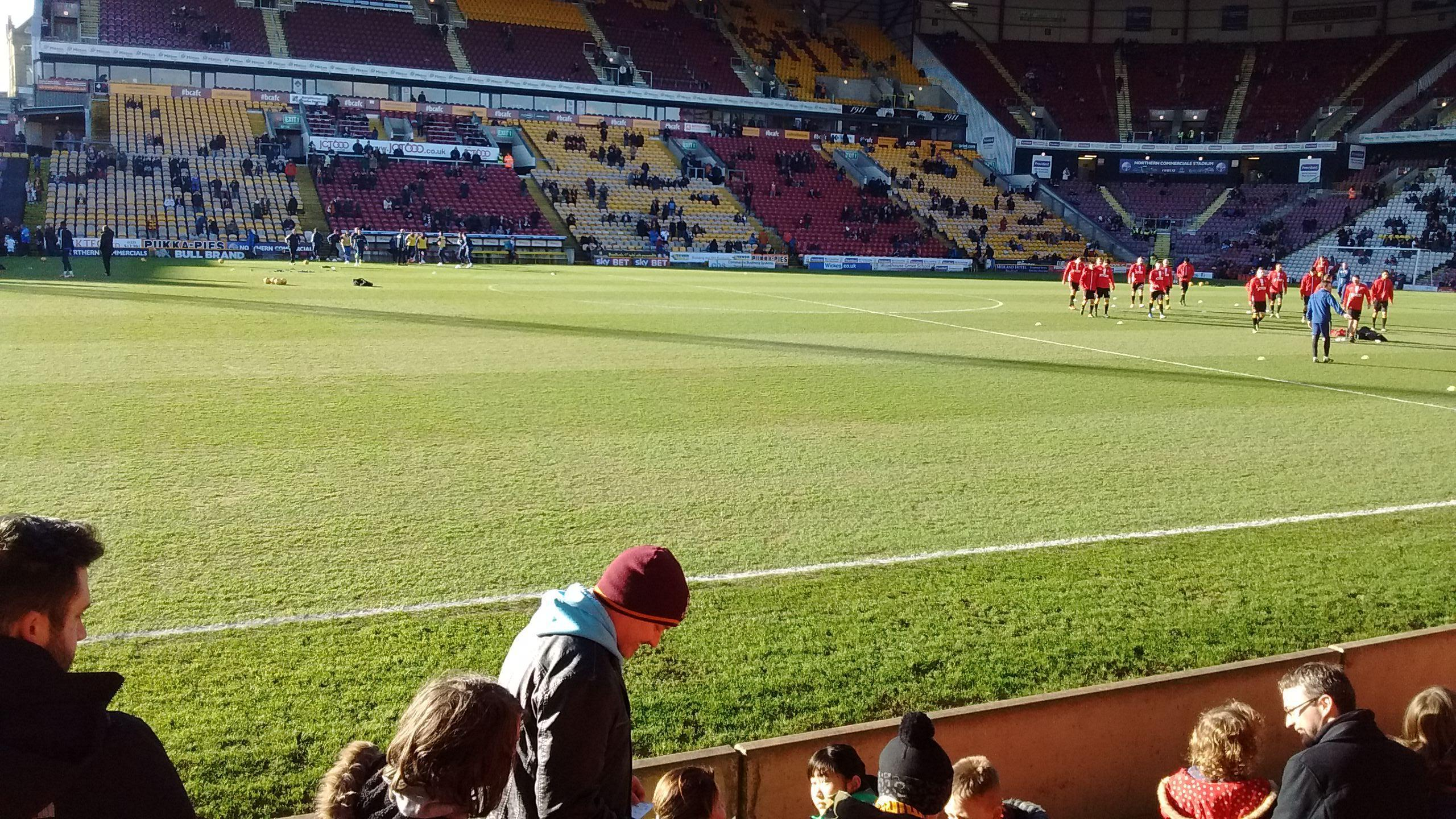 Valley Parade Section Midland road Row E Seat 139
