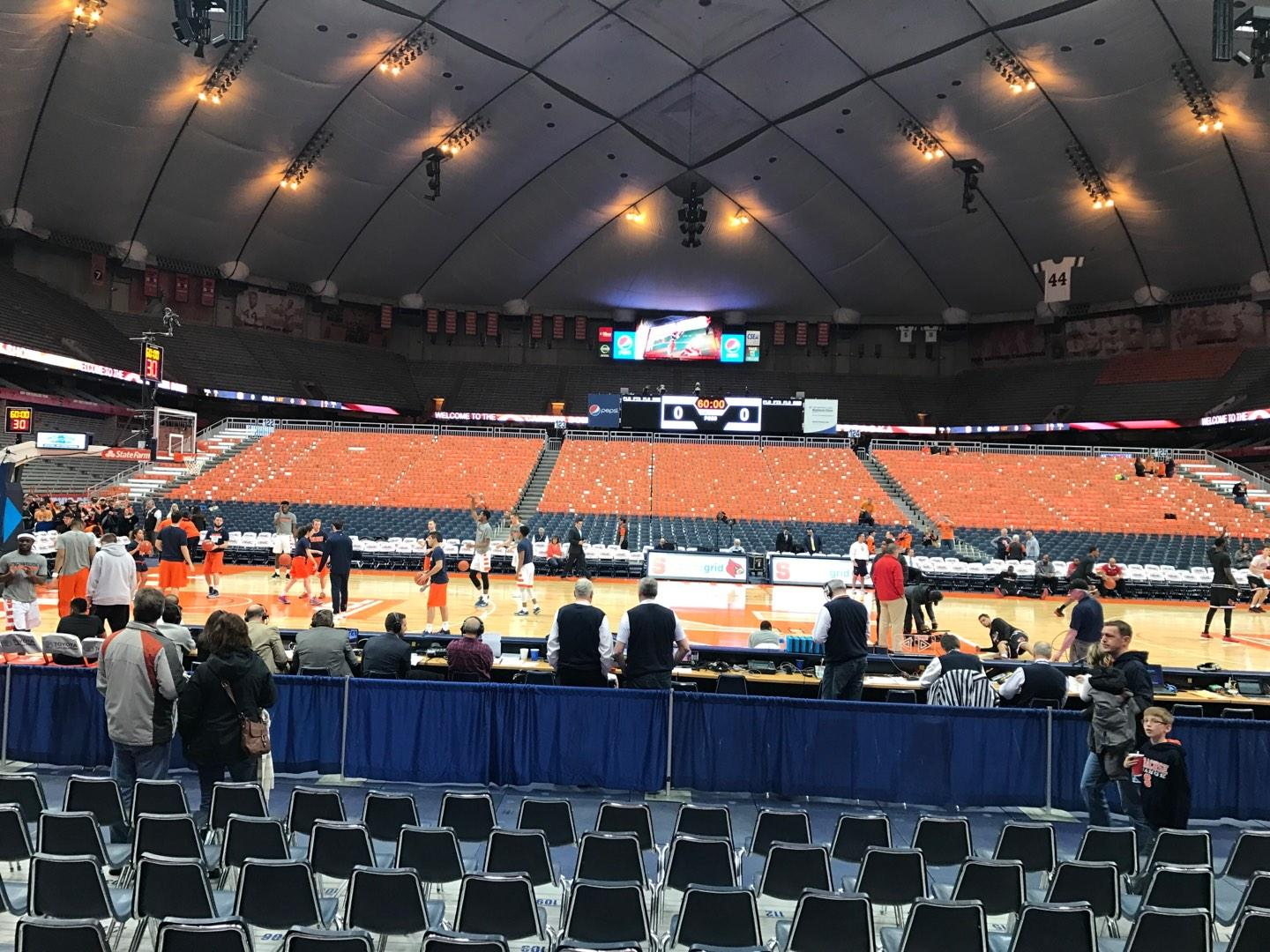 Carrier Dome Section 109 Row A Seat 109