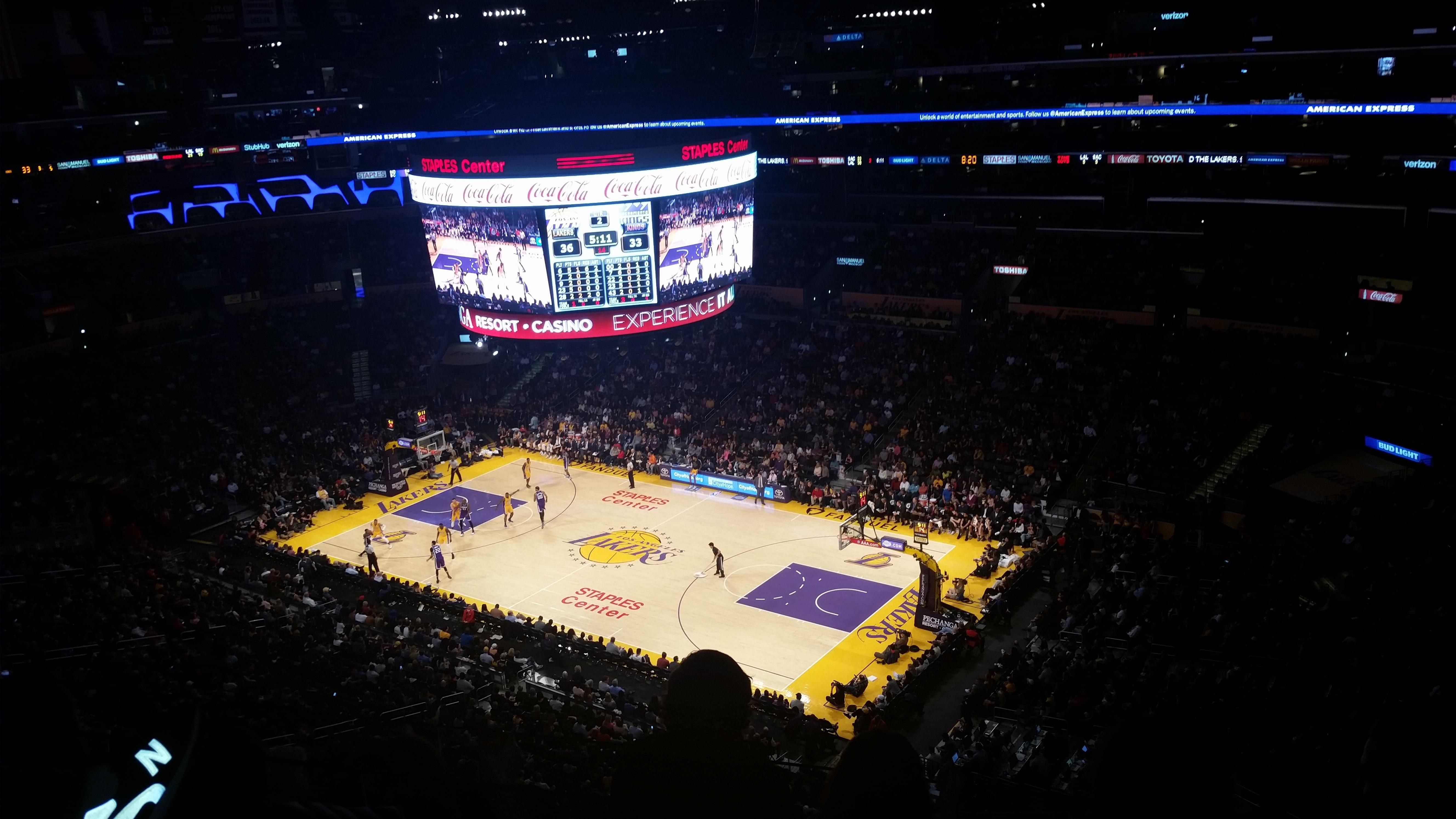 Staples Center Section 315 Row 3 Seat 1