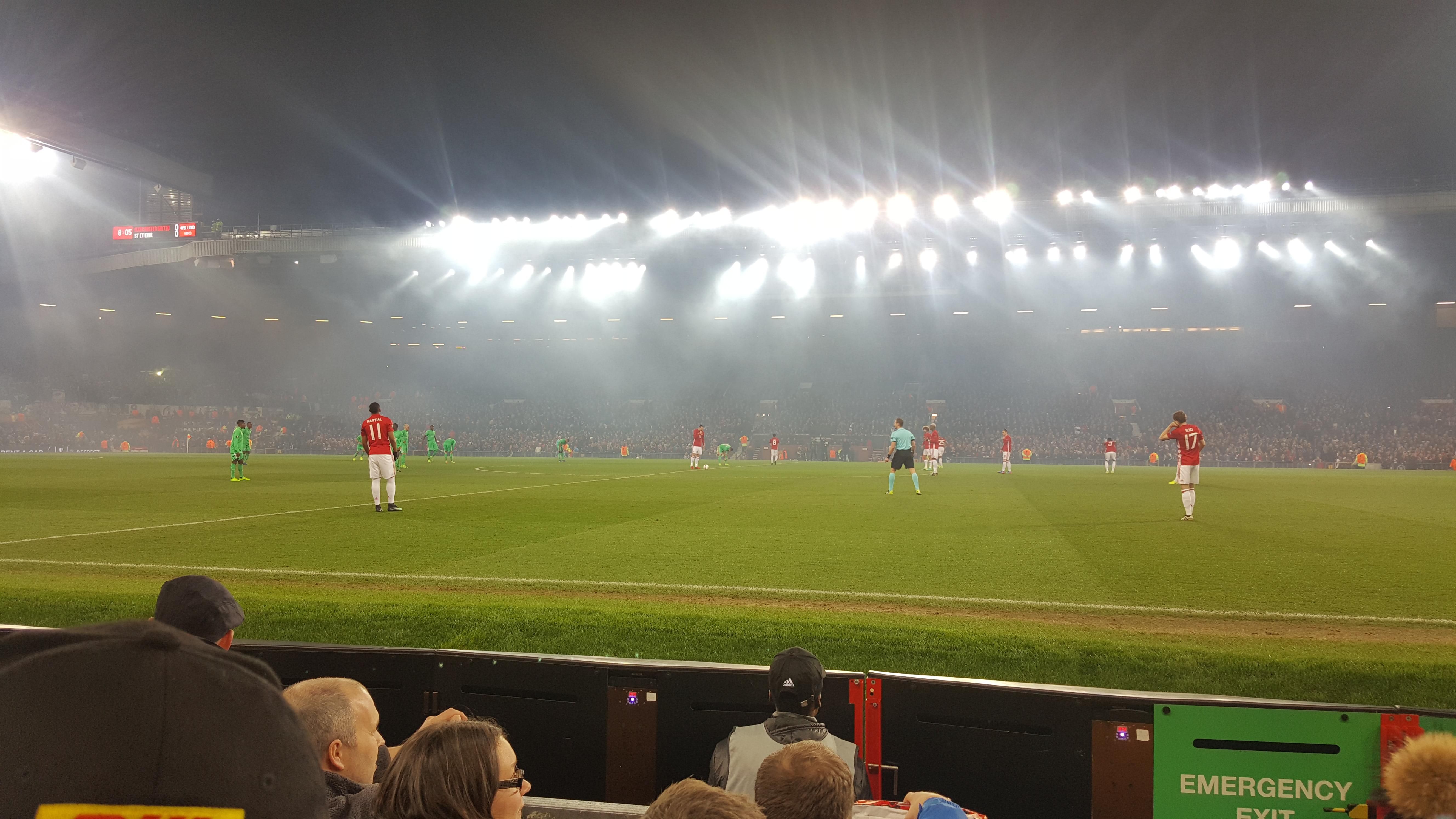 Old Trafford Section N1408 Row DD Seat 130