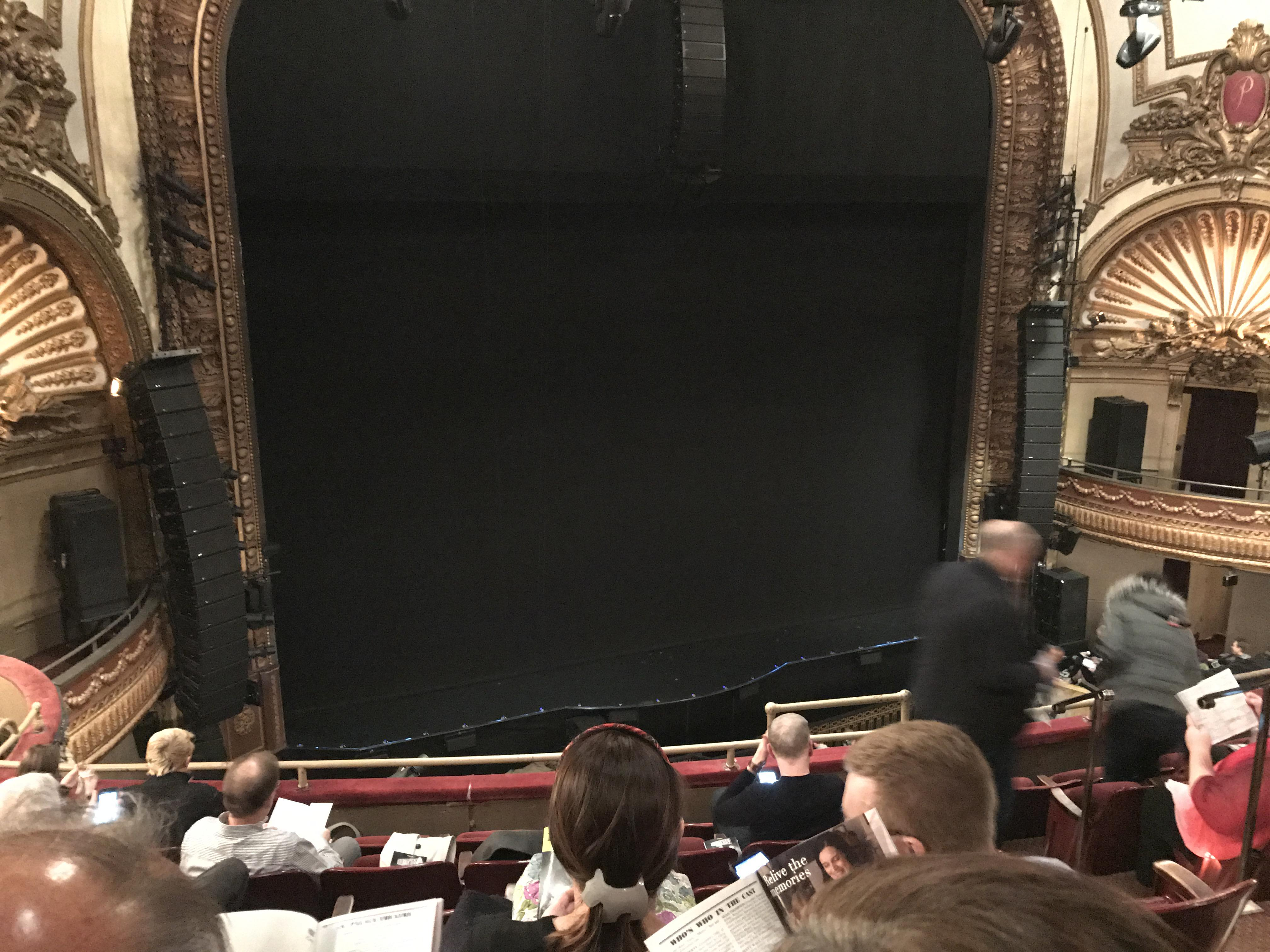 Palace Theatre (Broadway) Section Mezz Row F Seat 7