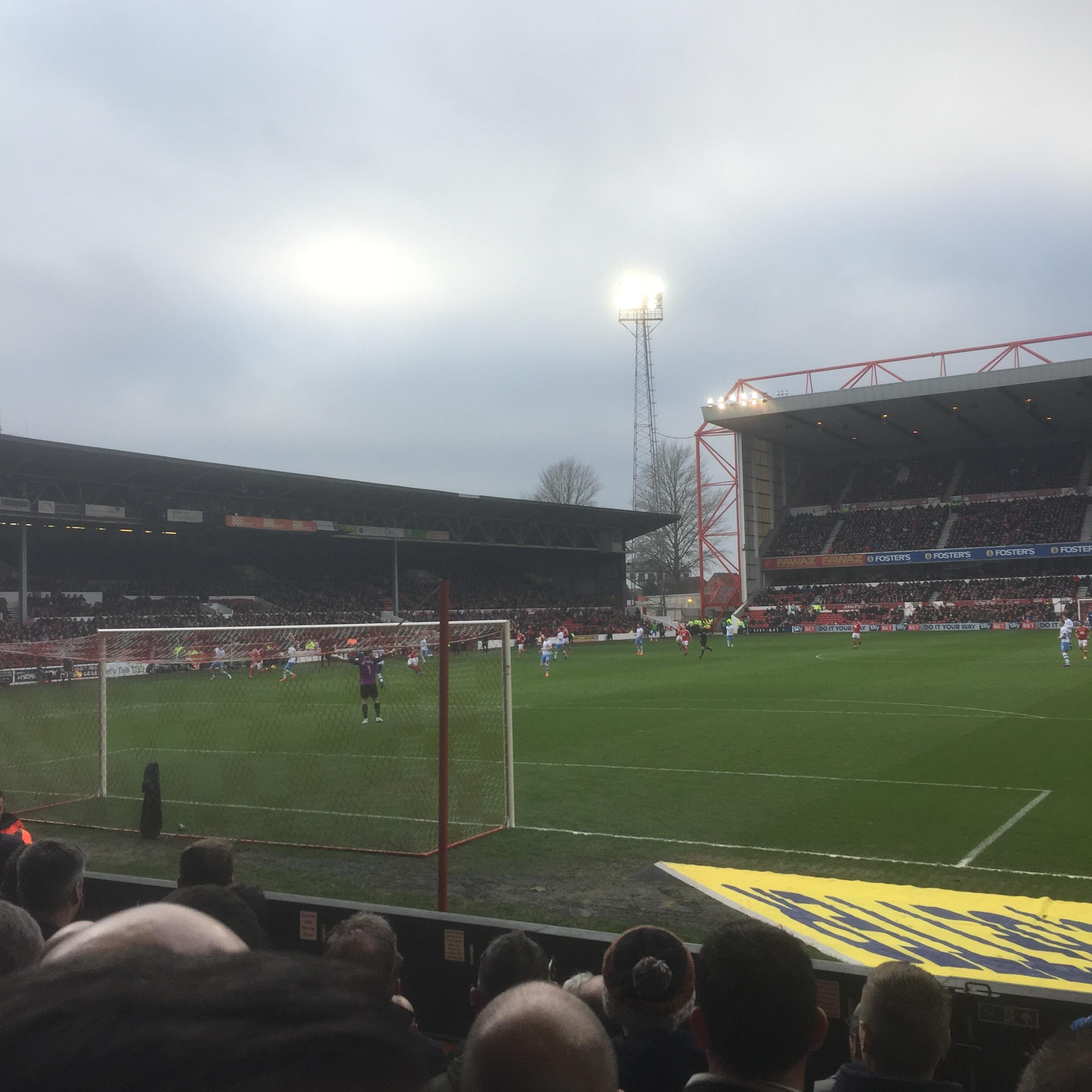 City Ground Section X2 Row G Seat 119