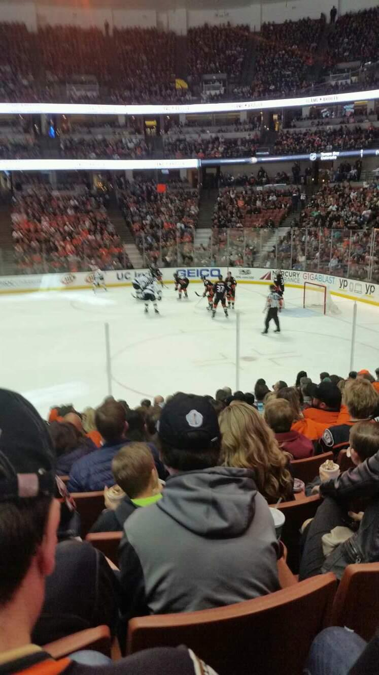Honda Center Section 220 Row m Seat 14