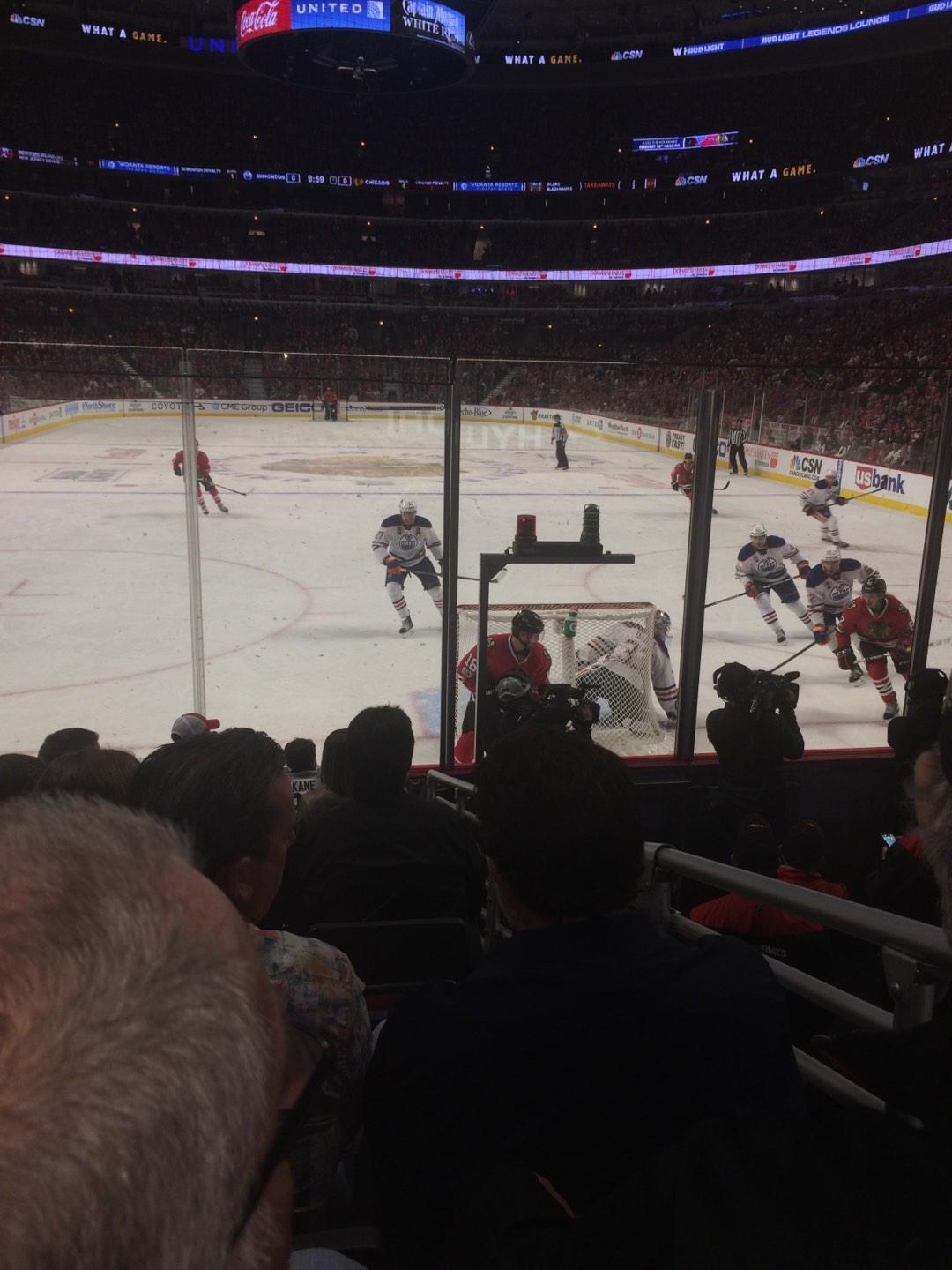 United Center Section 117 Row 8 Seat 4
