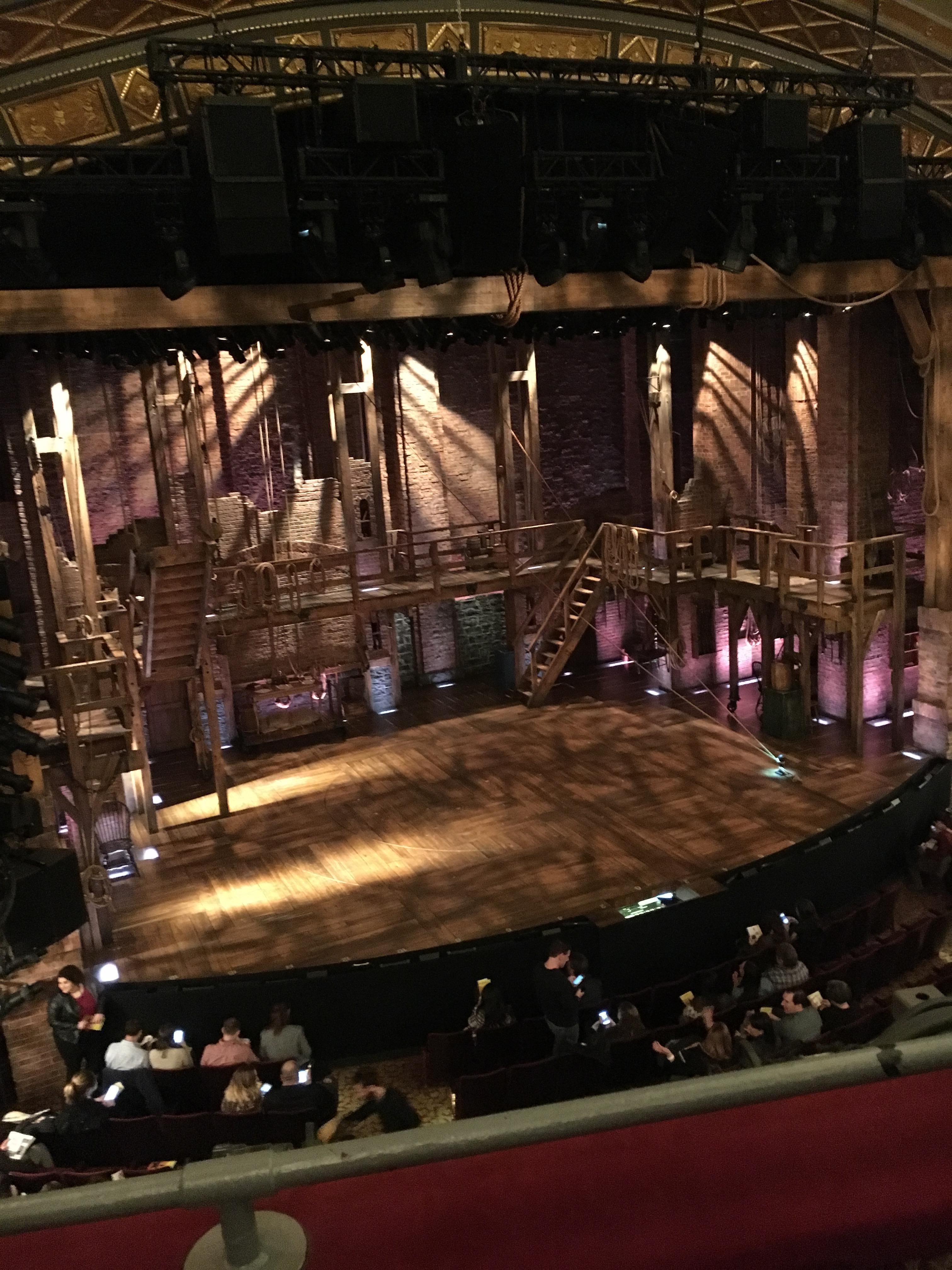 Richard Rodgers Theatre Section Front Mezzanine L Row B Seat 9