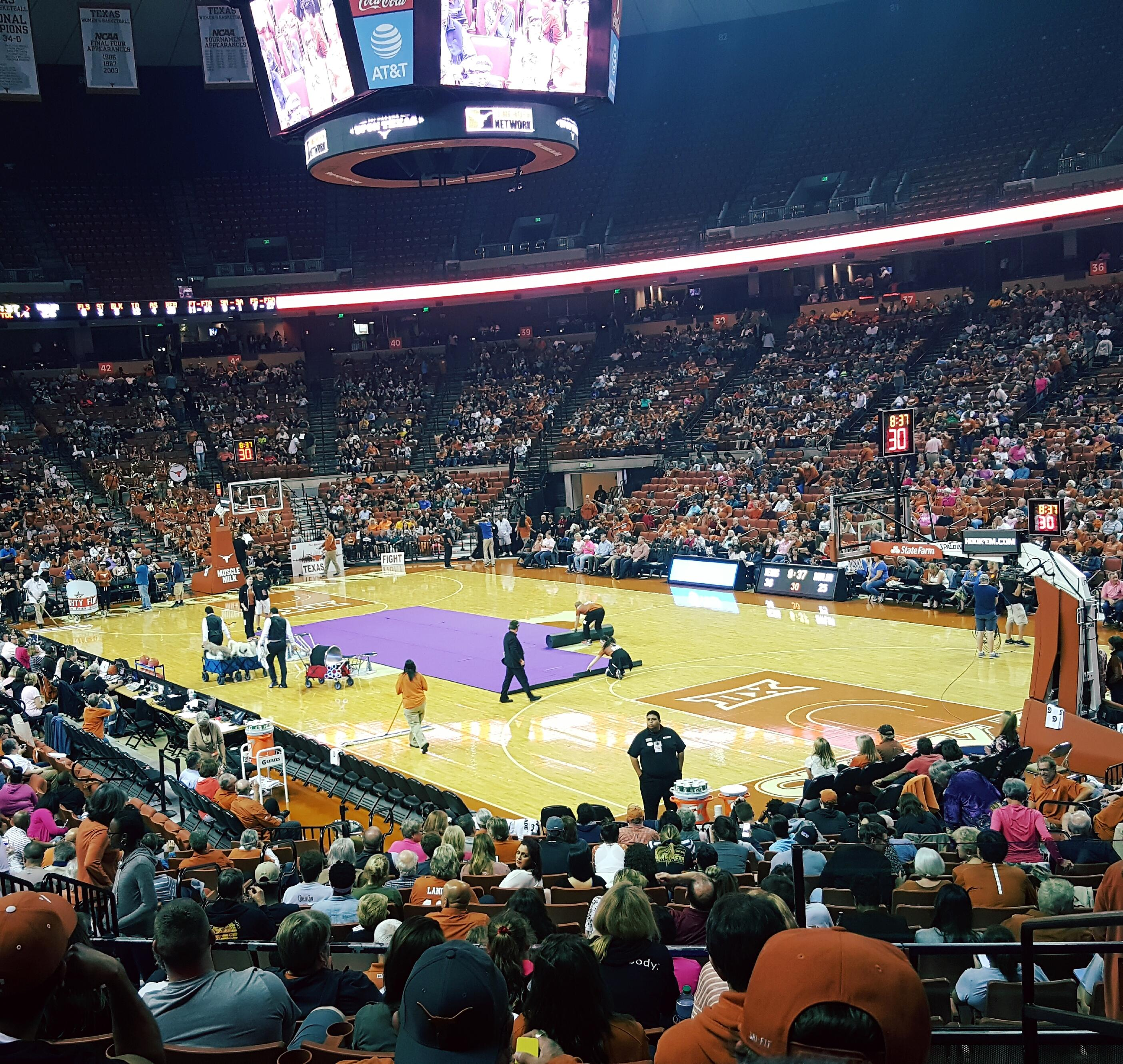 Frank Erwin Center Section 24 Row 22 Seat 10