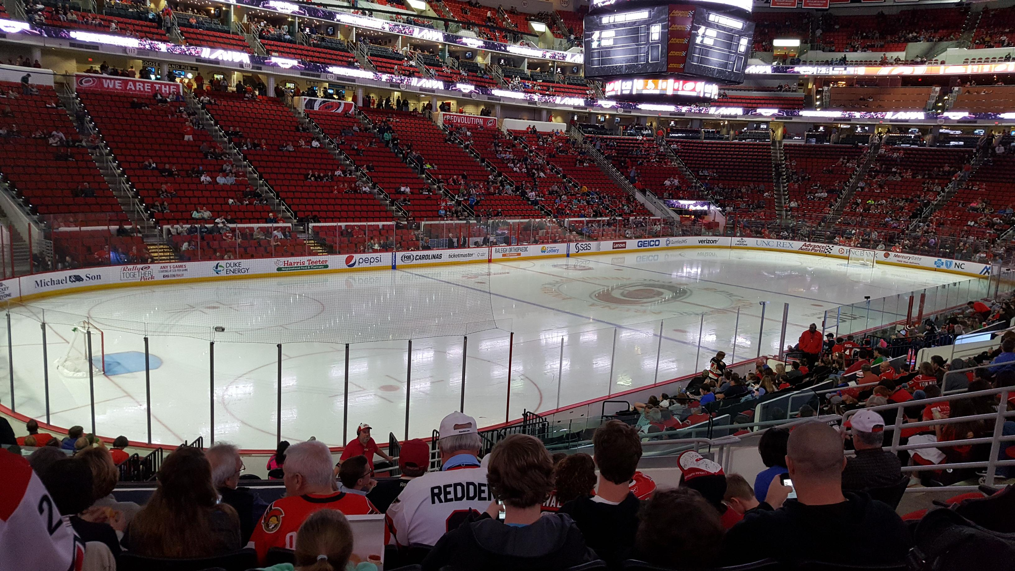 PNC Arena Section 108 Row T Seat 9