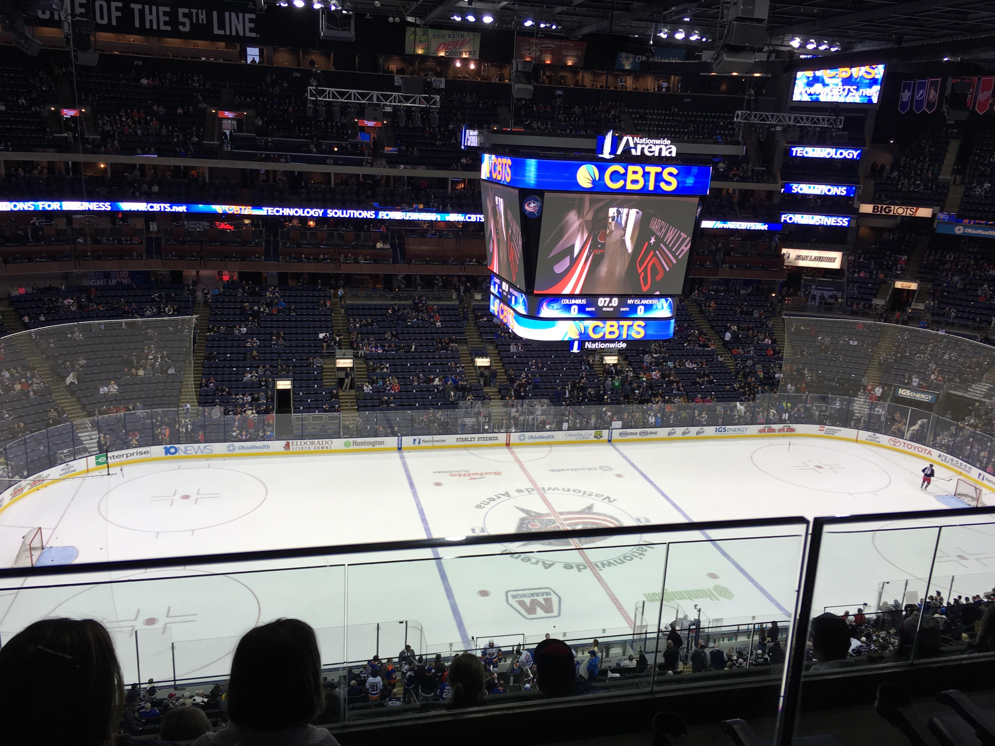 Nationwide Arena Section 204 Row E Seat 12