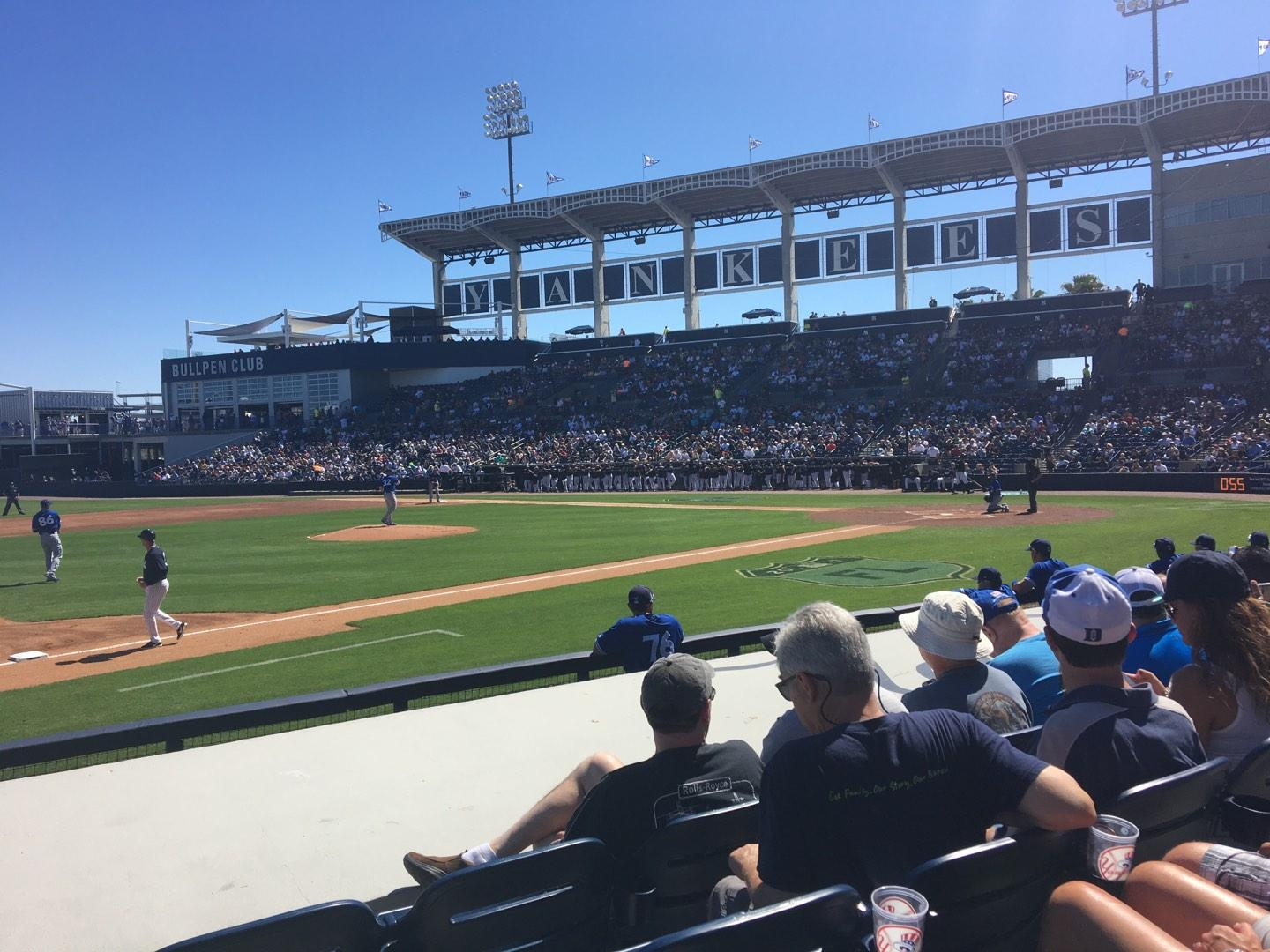 George M. Steinbrenner Field Section 117 Row GG Seat 9