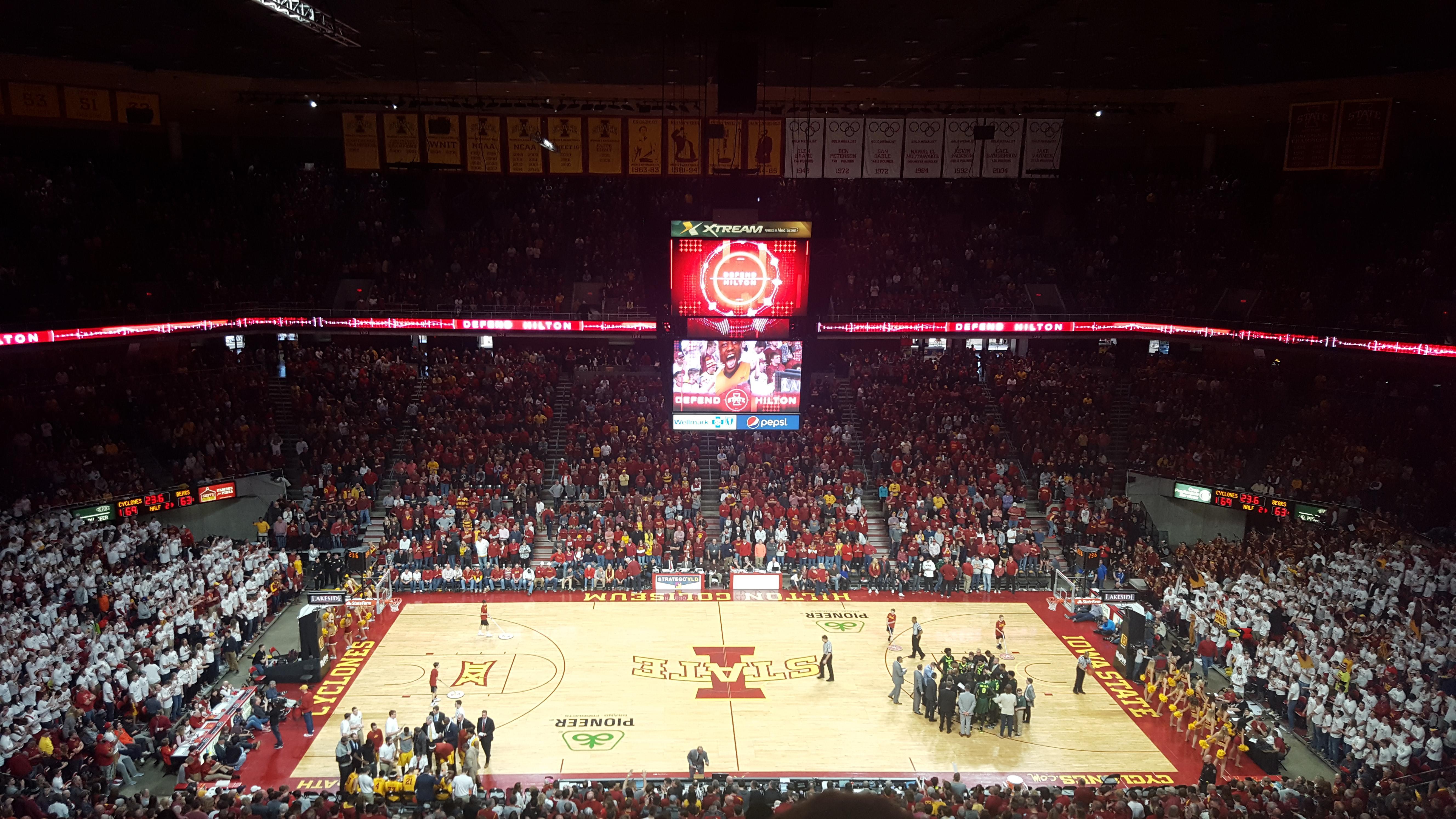 Hilton Coliseum Section 212 Row 11 Seat 4