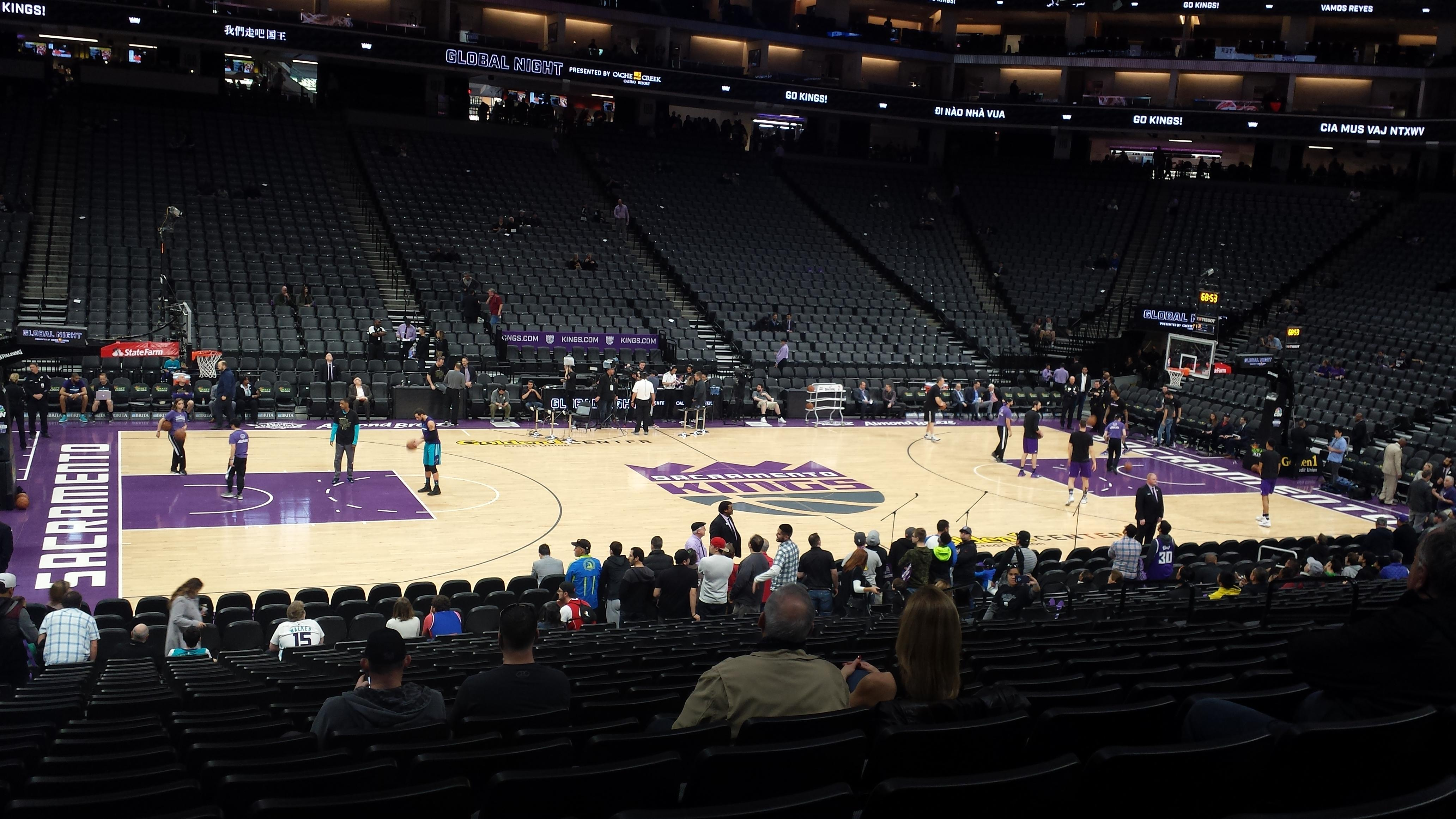 Golden 1 Center Section 121 Row L Seat 16