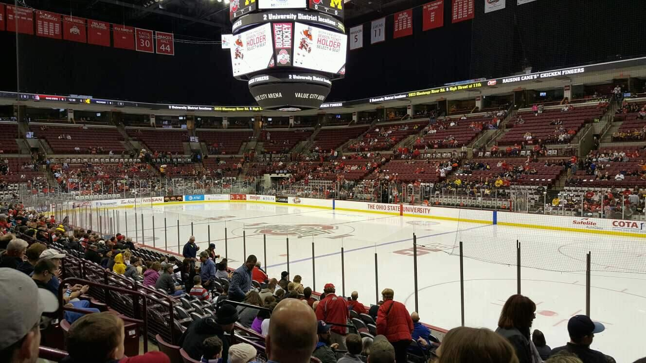 Value City Arena Section 118 Row Q Seat 14