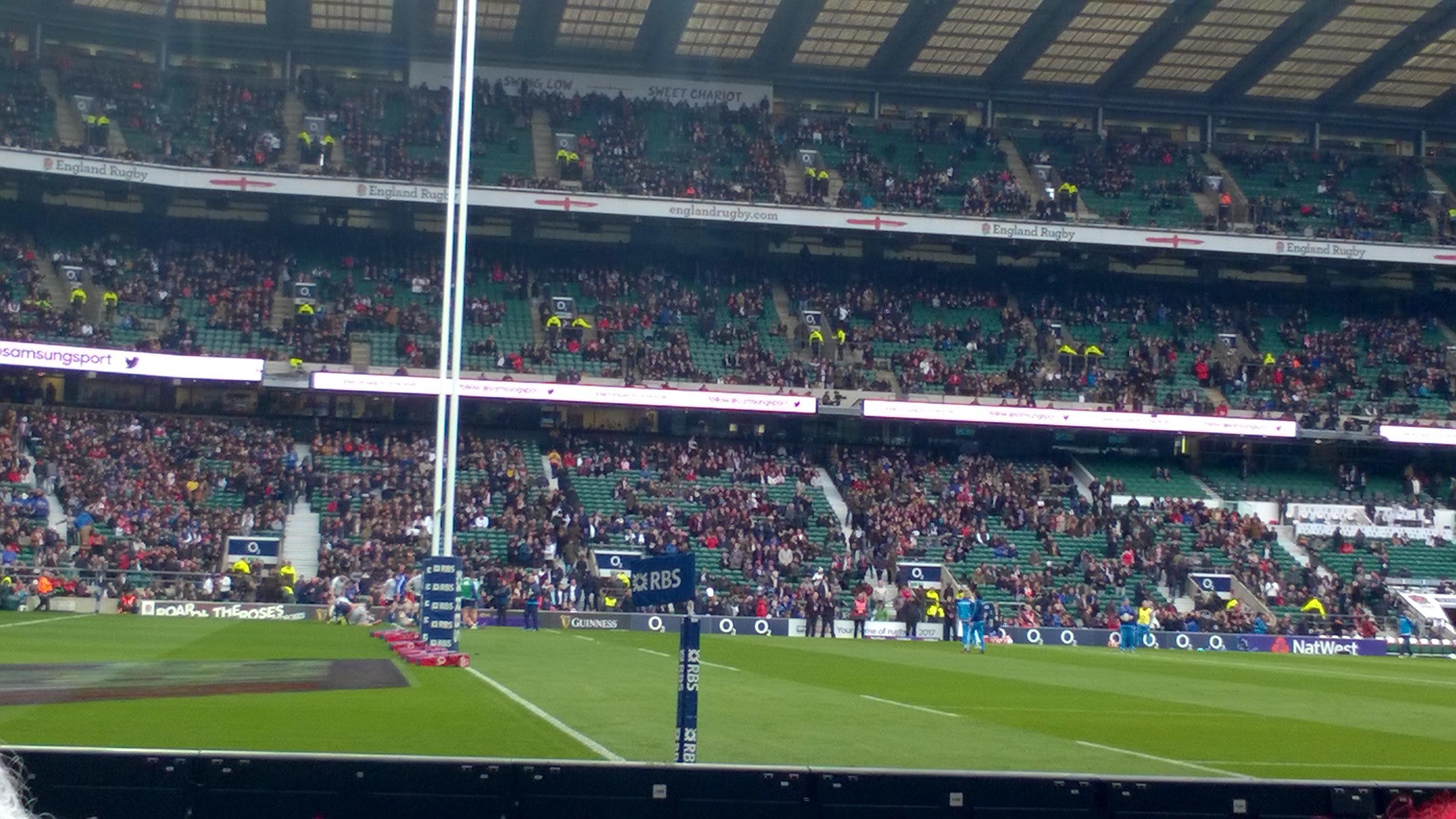 Twickenham Stadium Section L29 Row 2 Seat 315