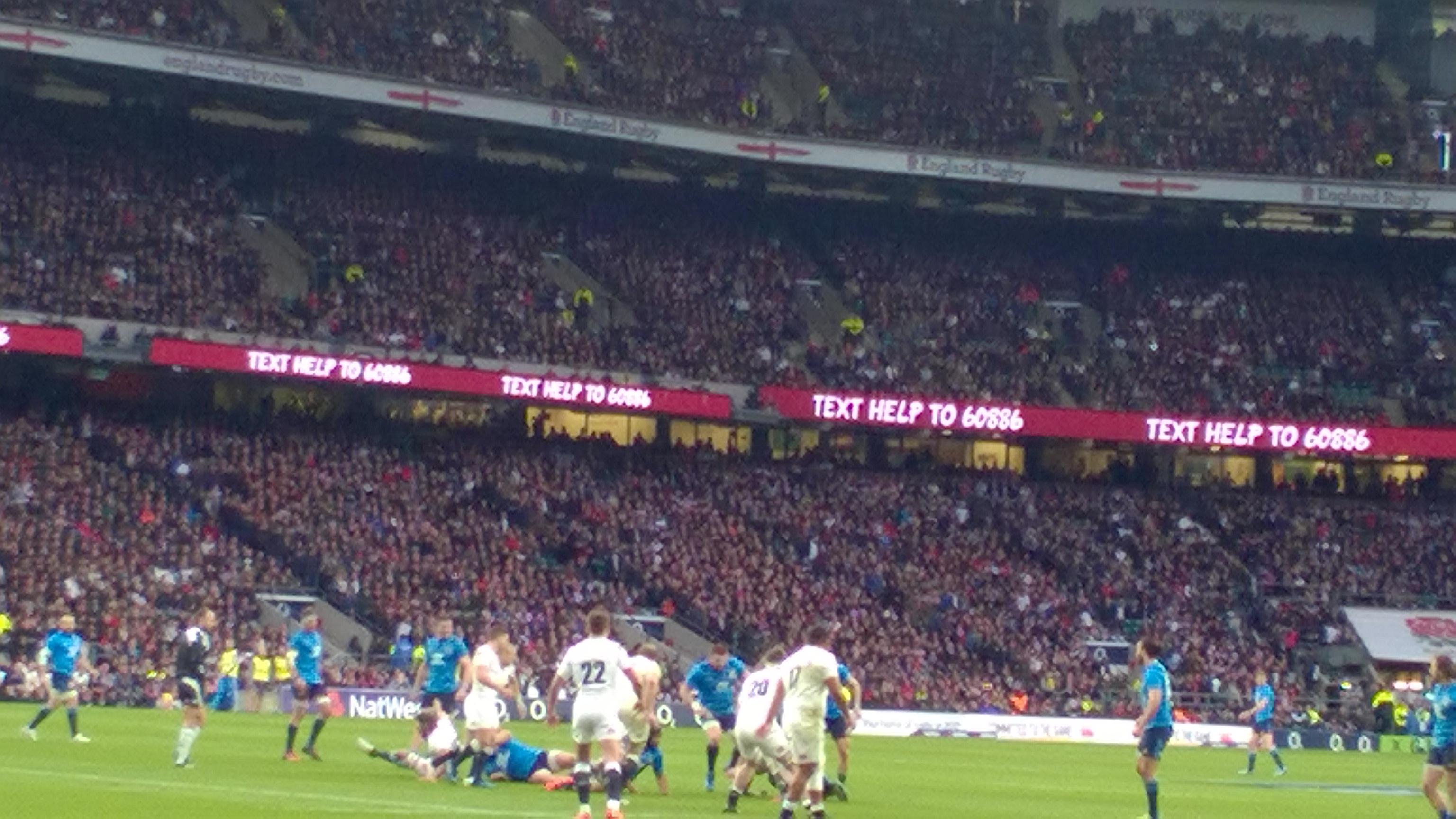 Twickenham Stadium Section L29 Row 2 Seat 314
