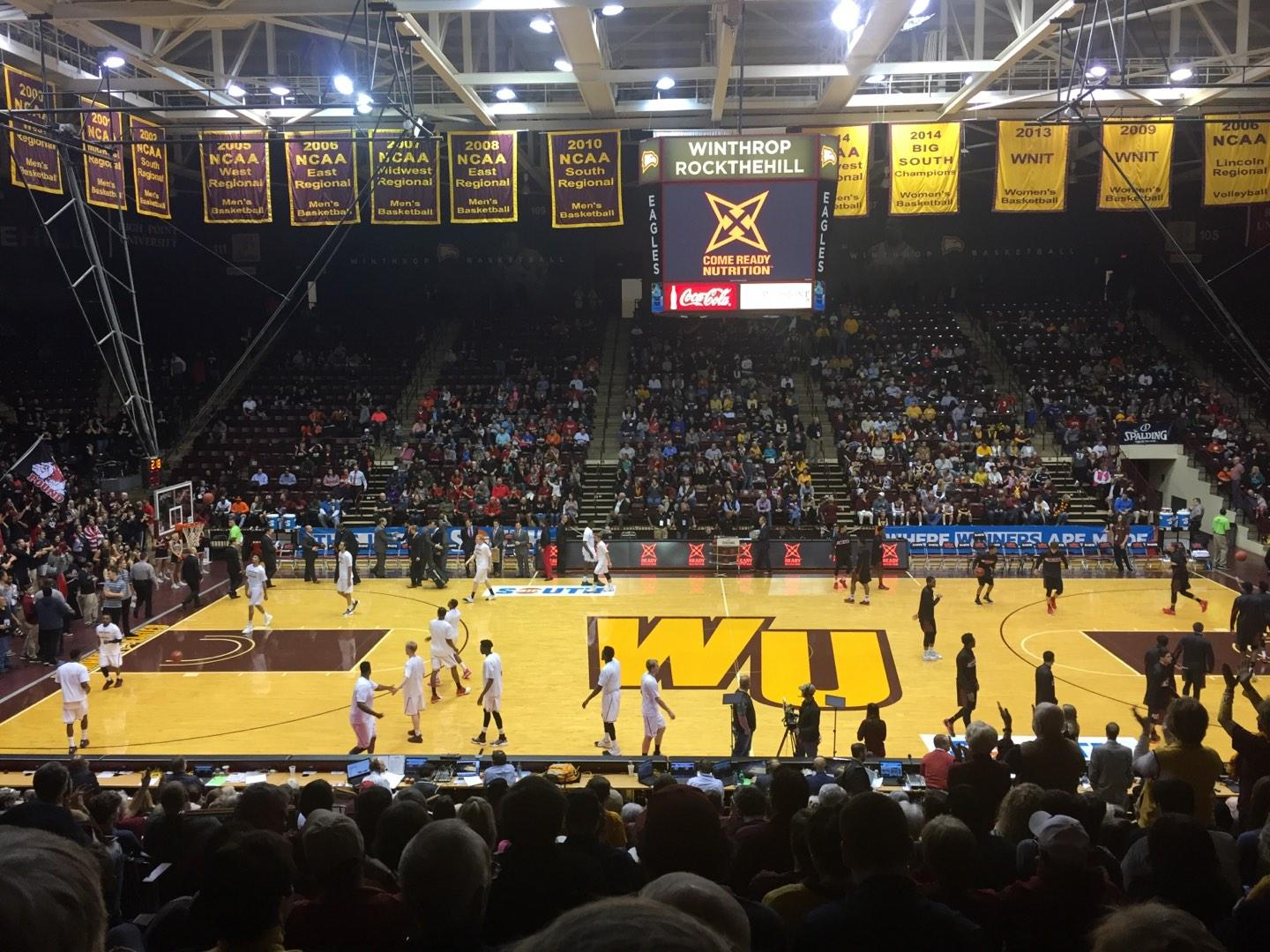 Winthrop Coliseum Section 123 Row Q Seat 10