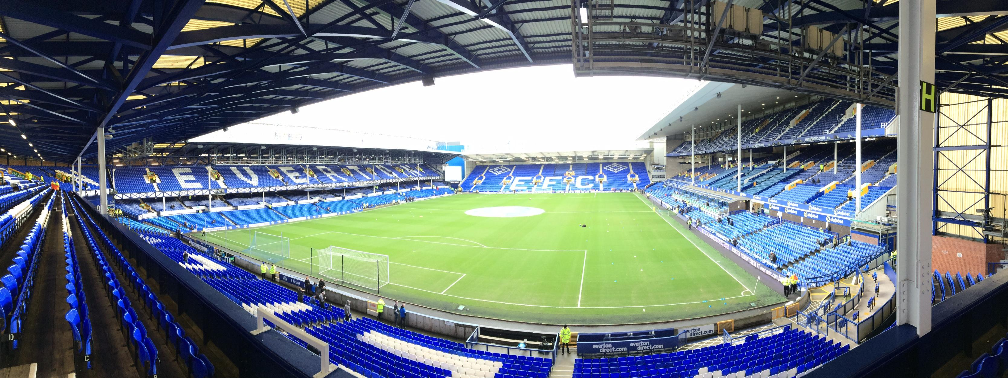 Goodison Park Section Upper Gwladys 2 Row D Seat 59