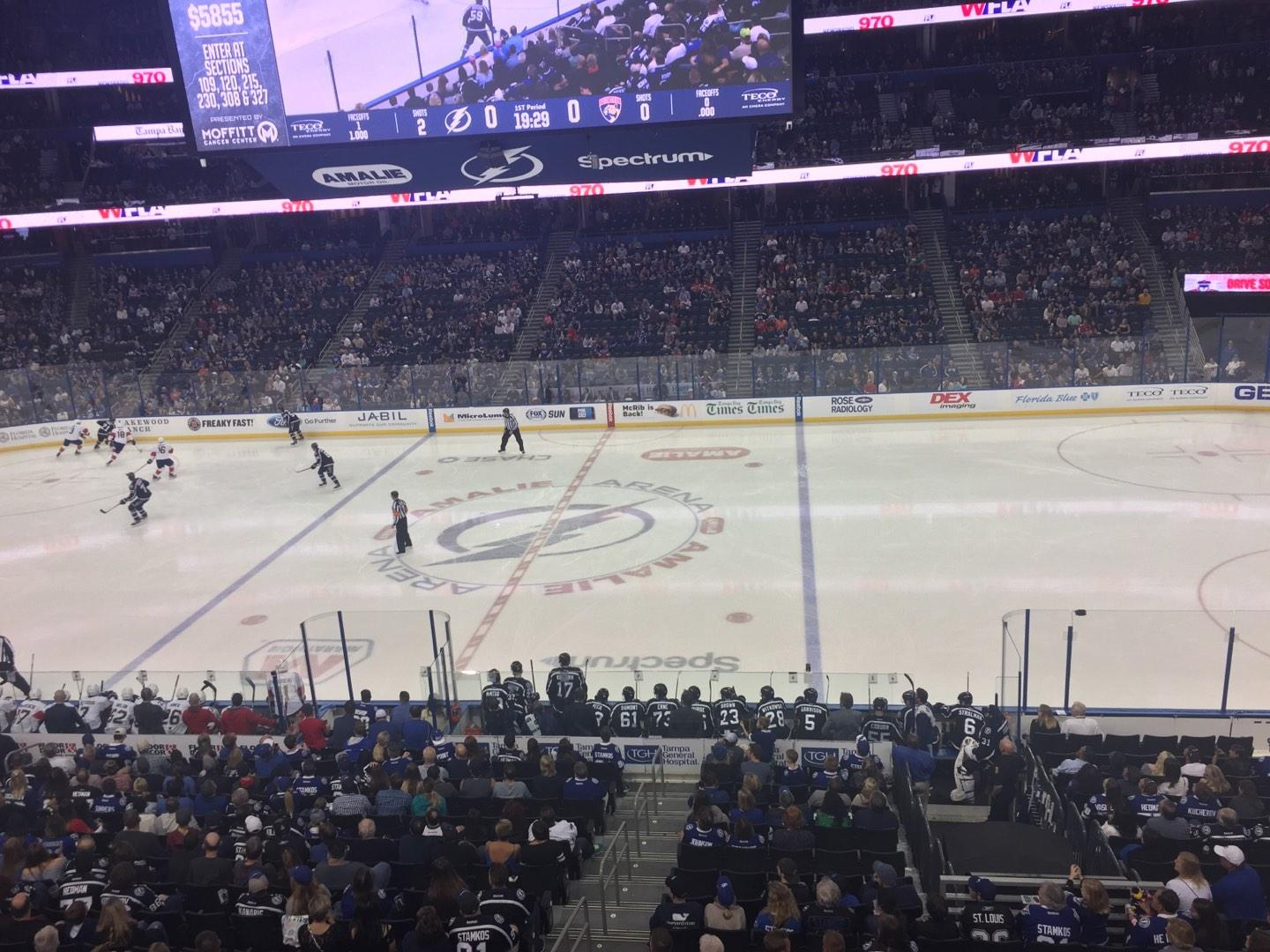 Amalie Arena Section 230 Row A Seat 13