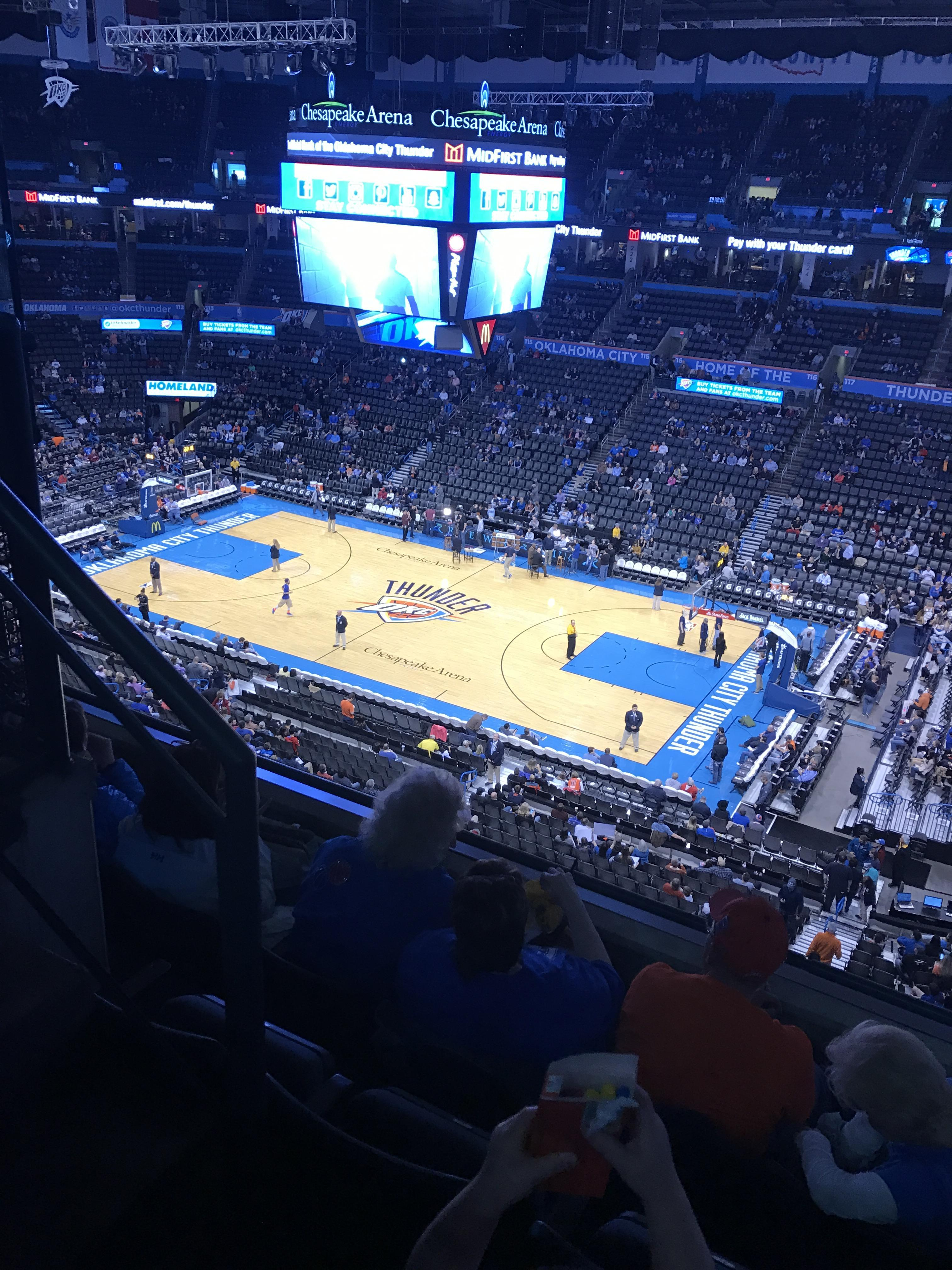 Chesapeake Energy Arena Section 306 Row D Seat 14