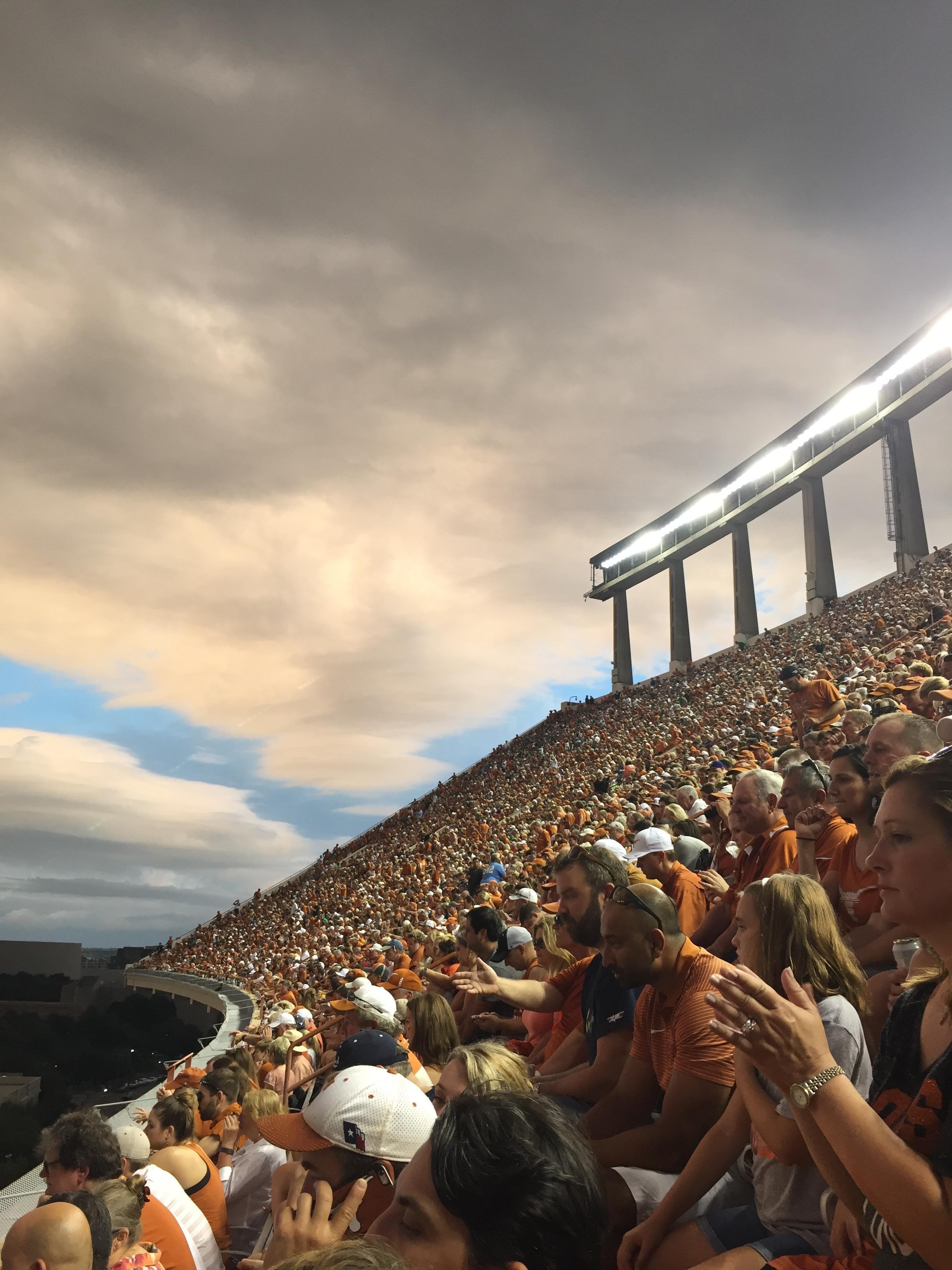 Texas Memorial Stadium Section 107 Row 2 Seat 6