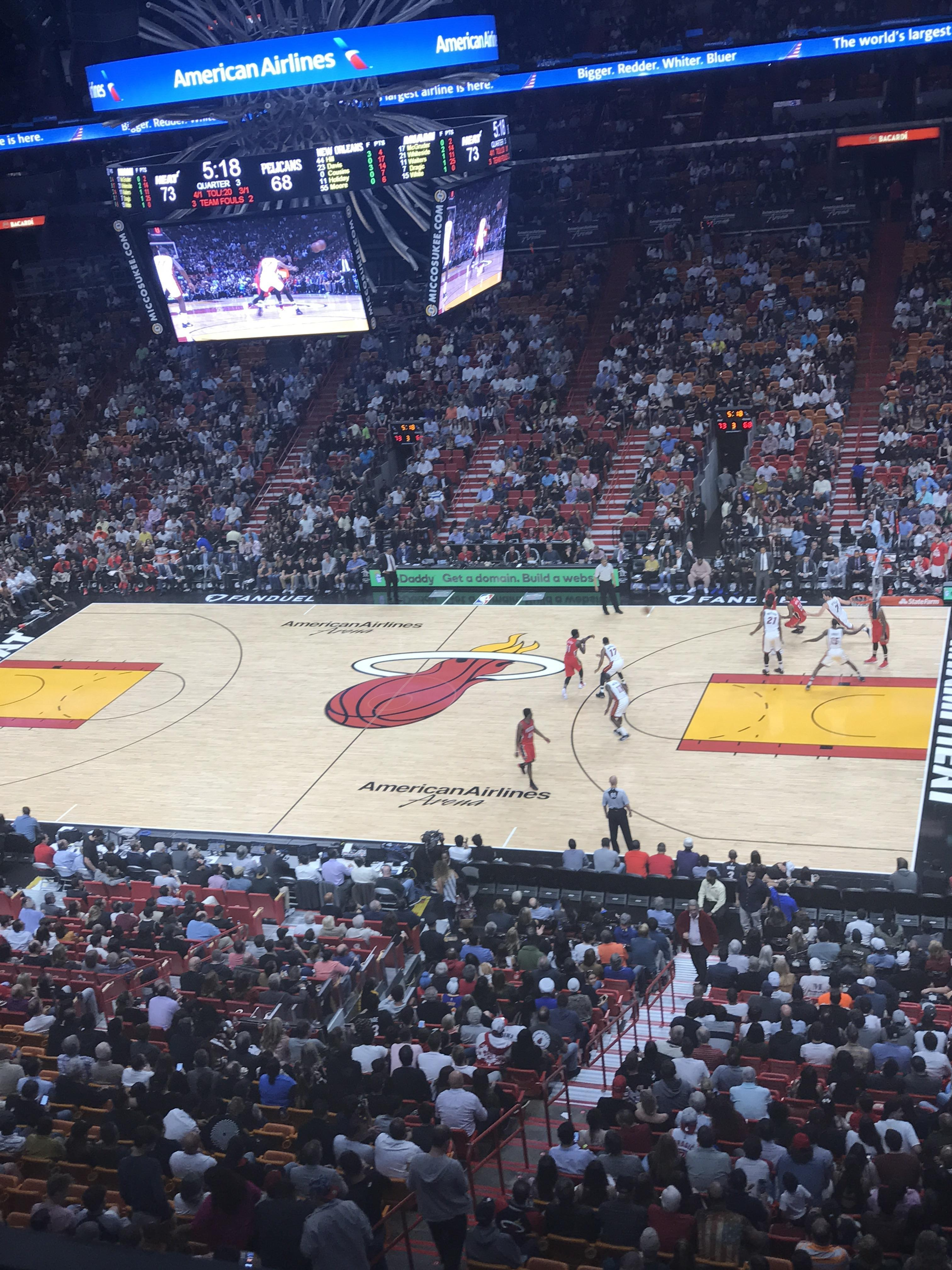 American Airlines Arena Section 323 Row 1 Seat 5