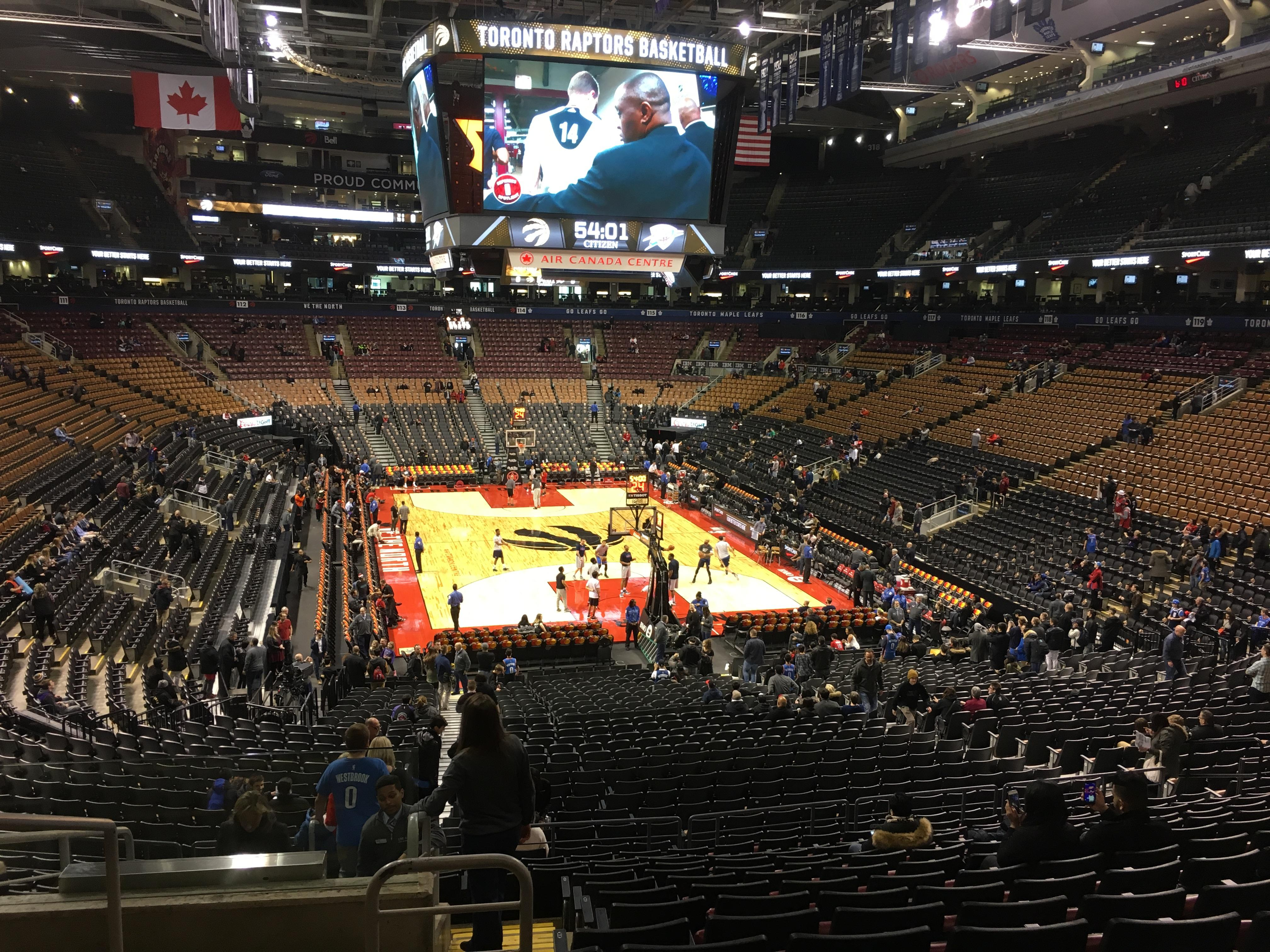 Scotiabank Arena Section 103 Row 30 Seat 20