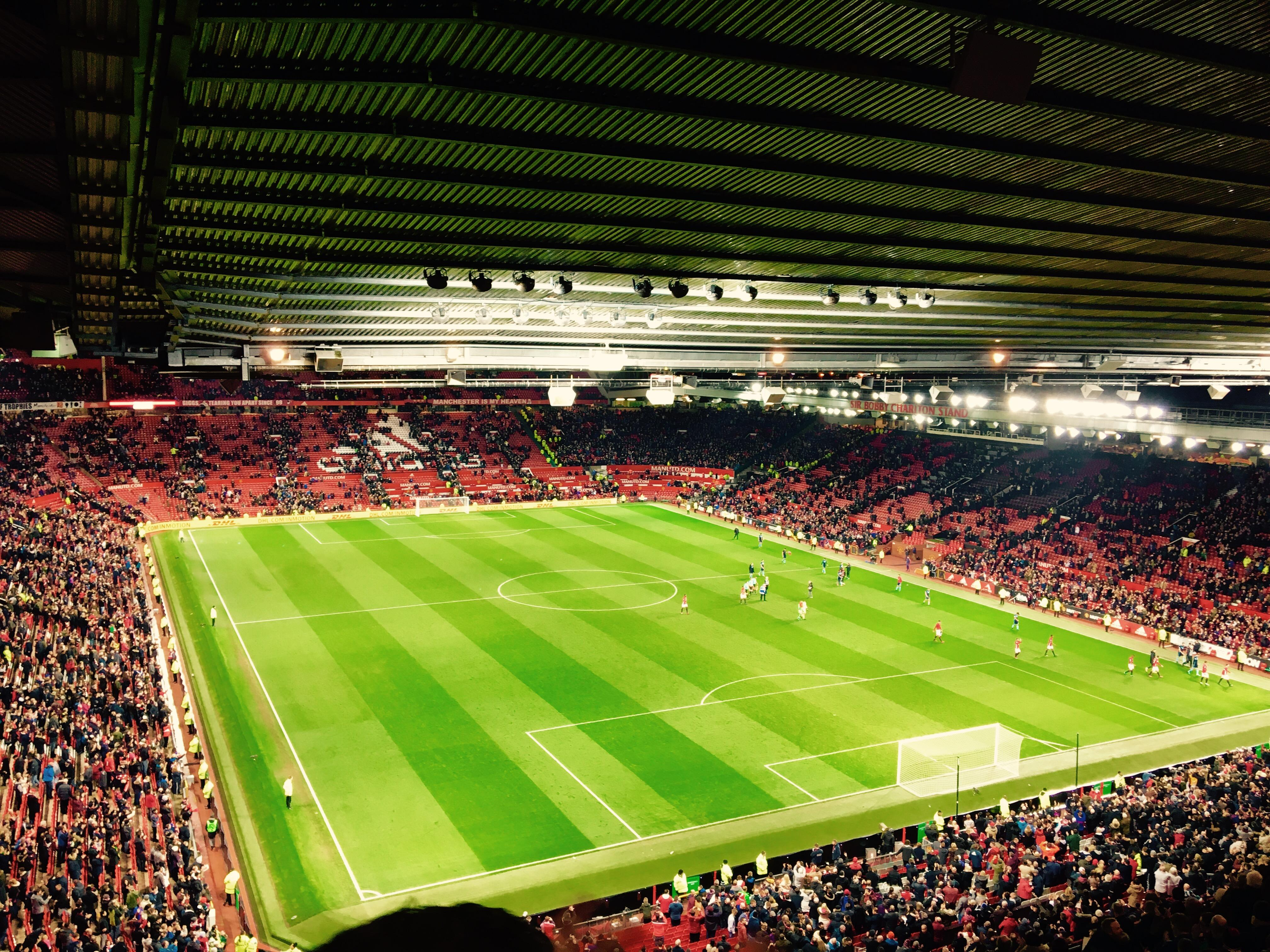 Old Trafford Section 3434 Row 4 Seat 20