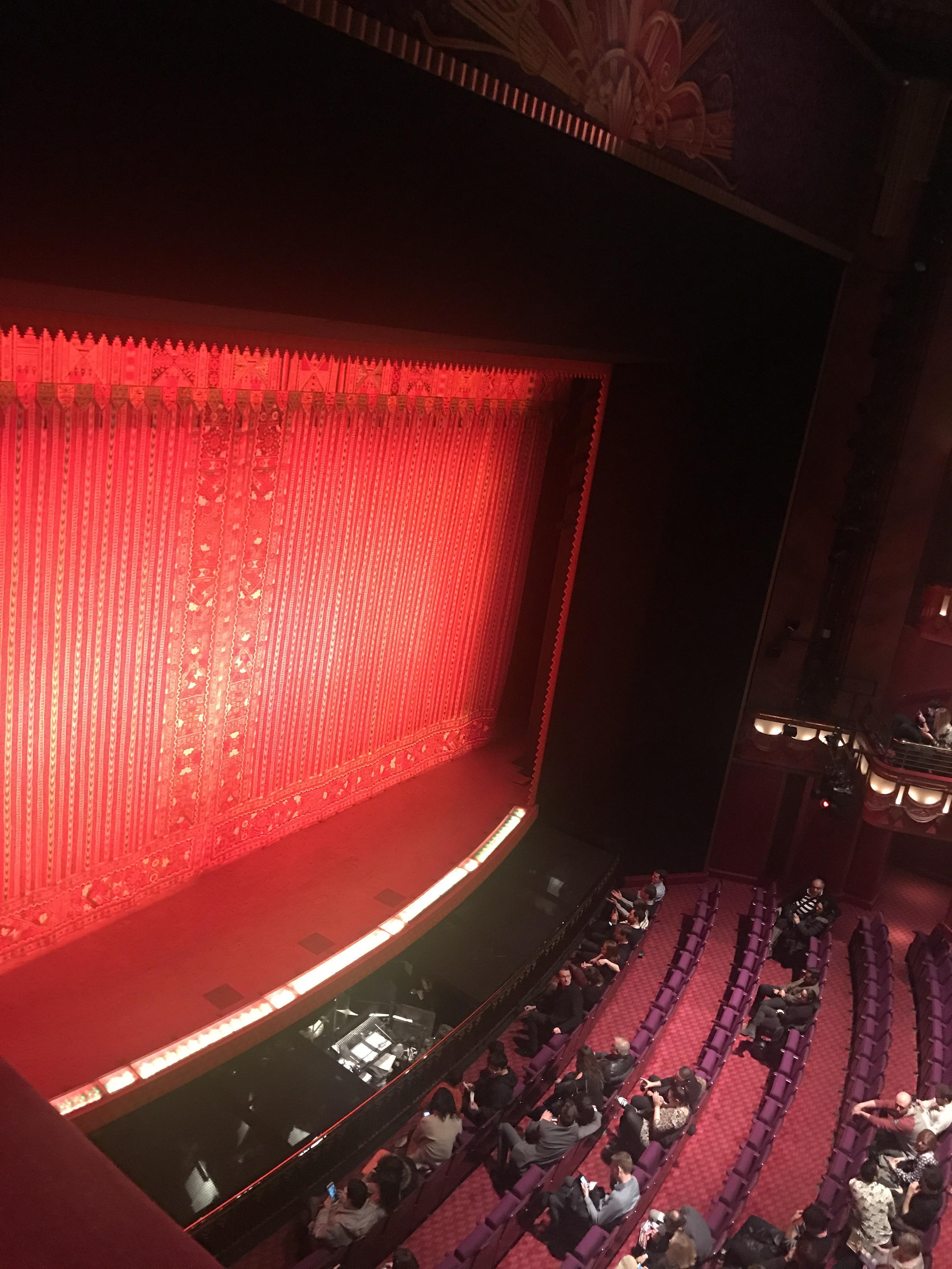 Prince Edward Theatre Section Grand Circle Box Row GB2 Seat GB2