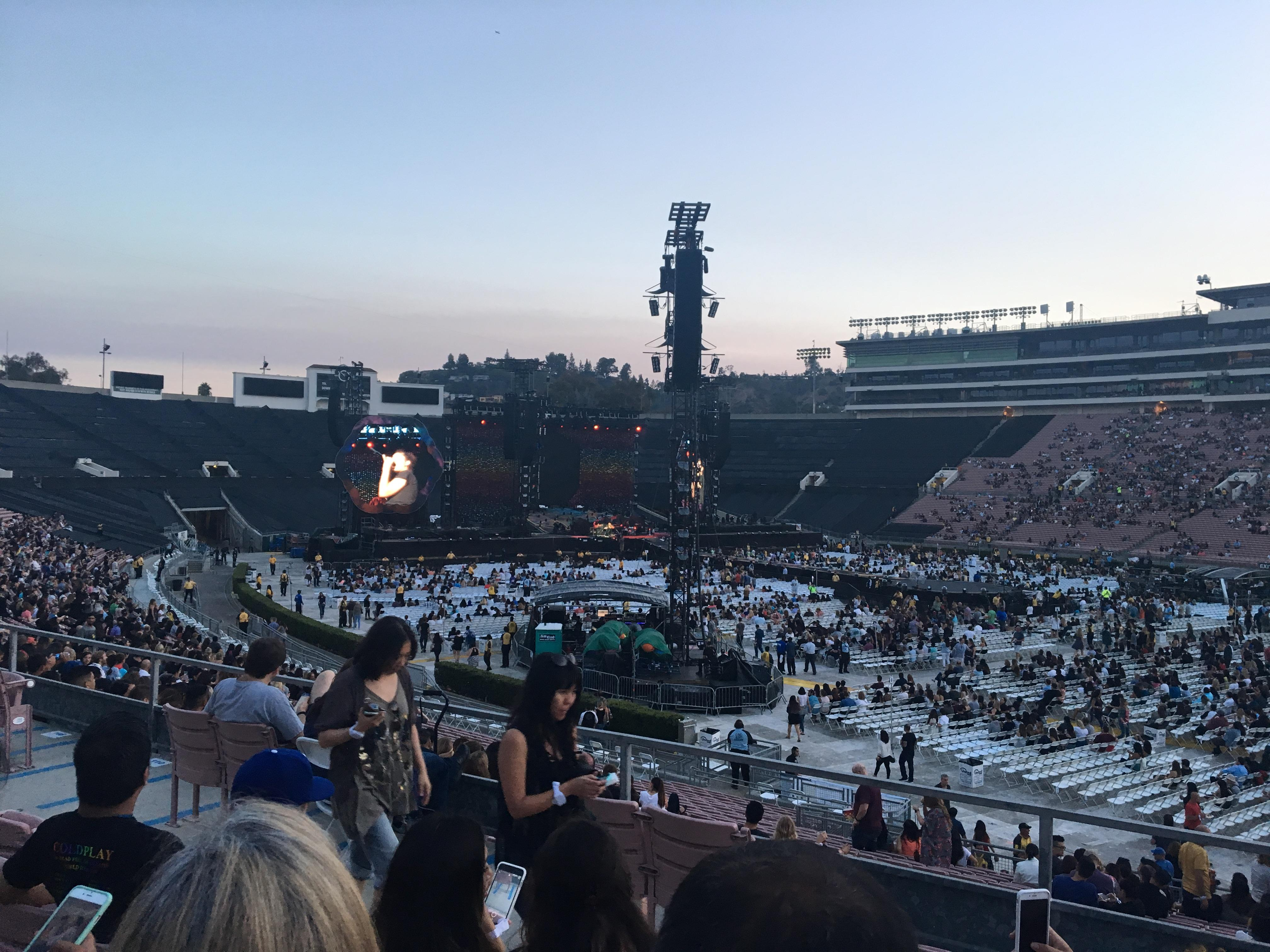 Rose Bowl Section 8-L Row 33 Seat 3