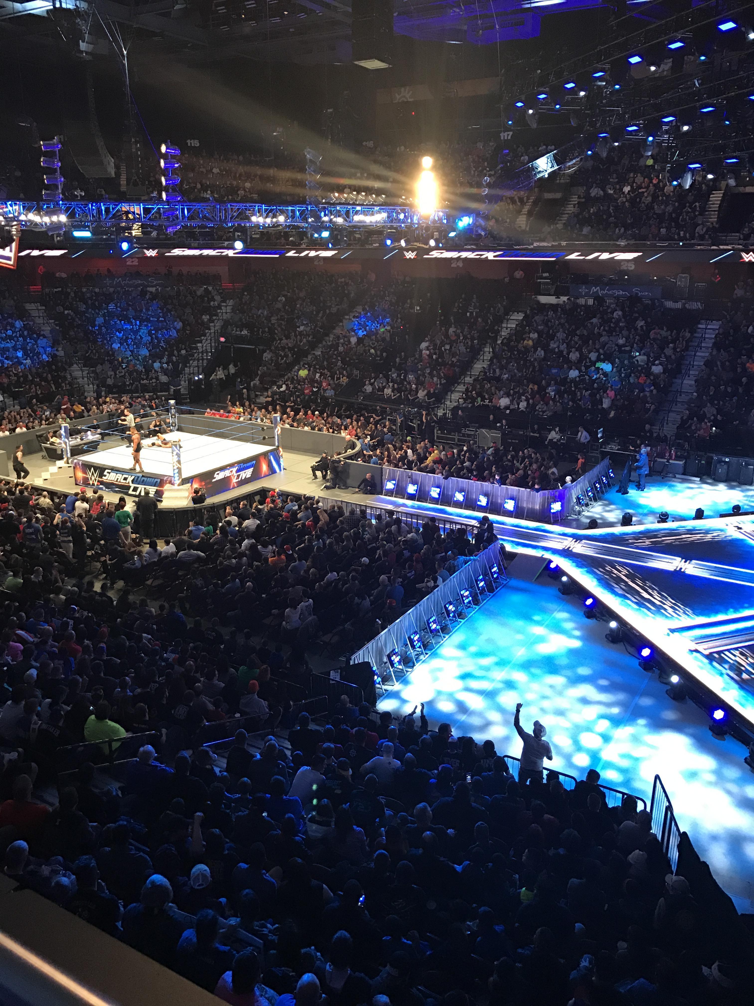 Mohegan Sun Arena Section 105 Row A Seat 3