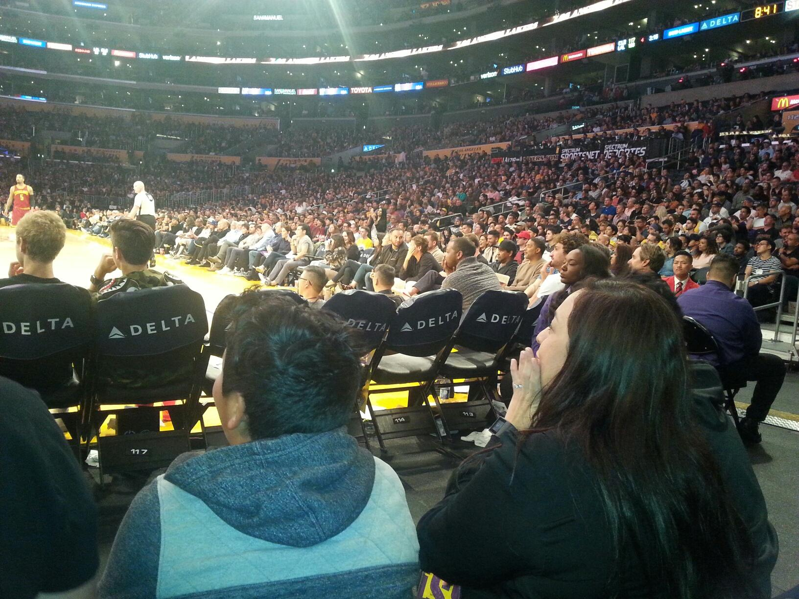 Staples Center Section 115 Row B Seat 5