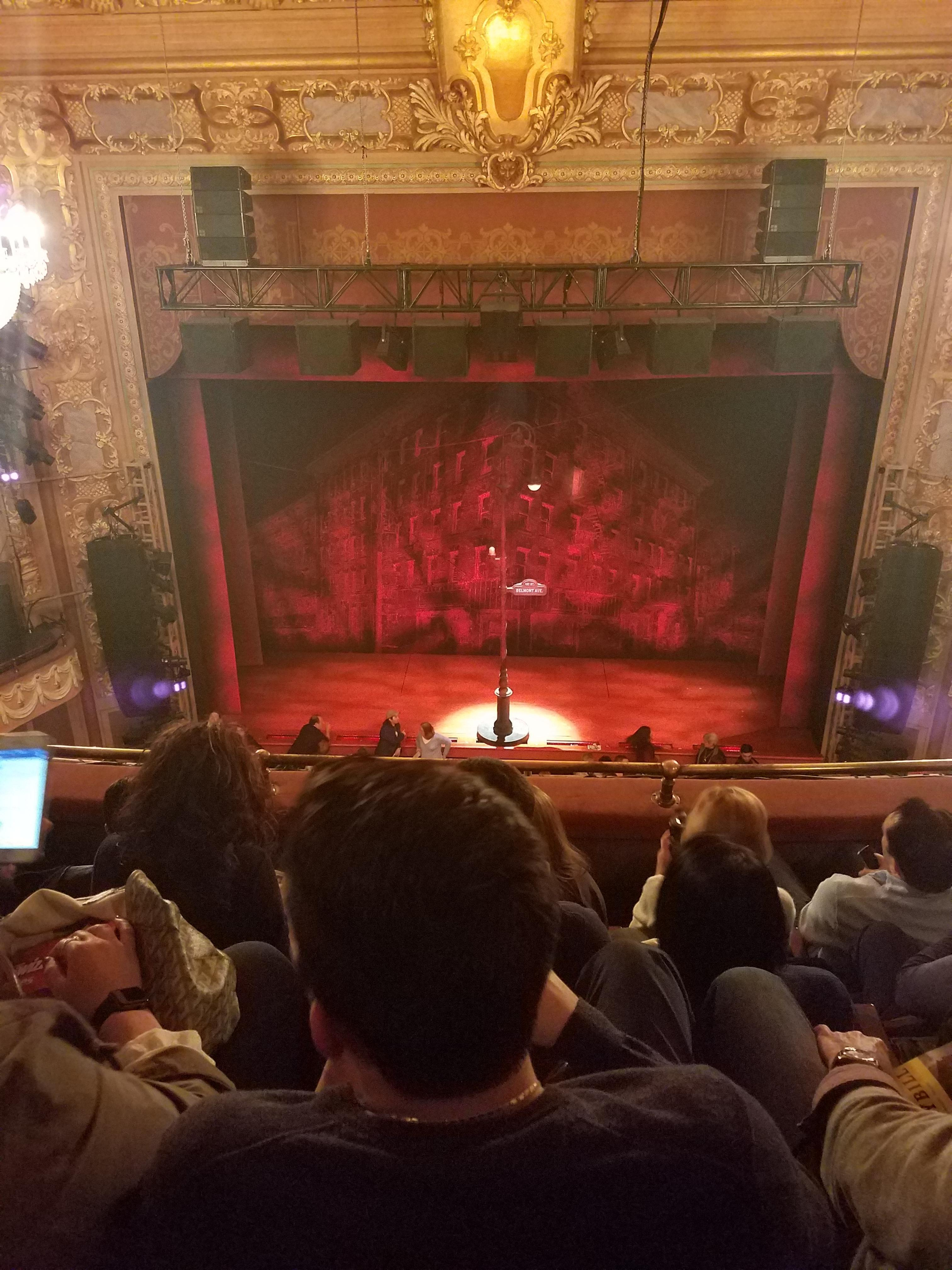 Longacre Theatre Section Balcony Row D Seat 107