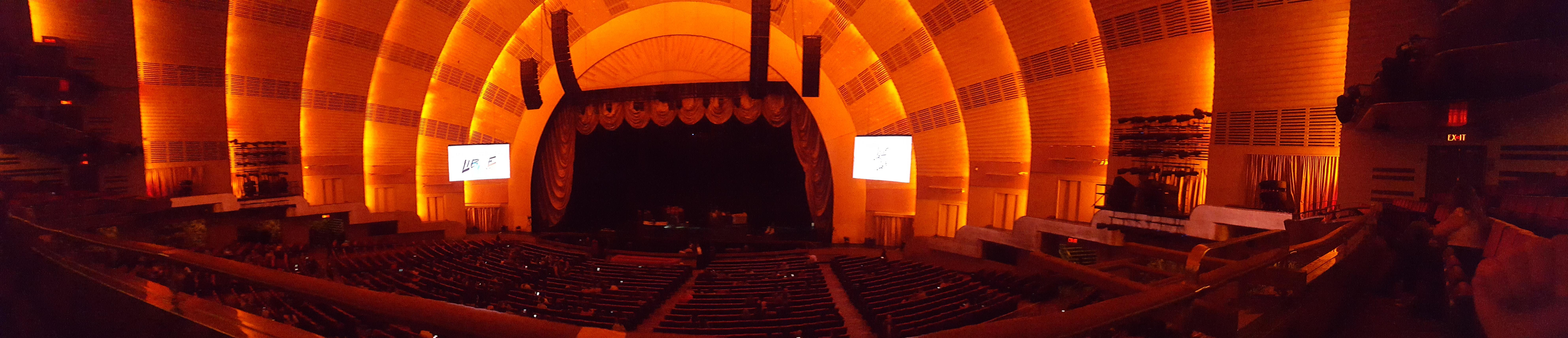 Radio City Music Hall Section 1st mezzanine 3 Row A Seat 303