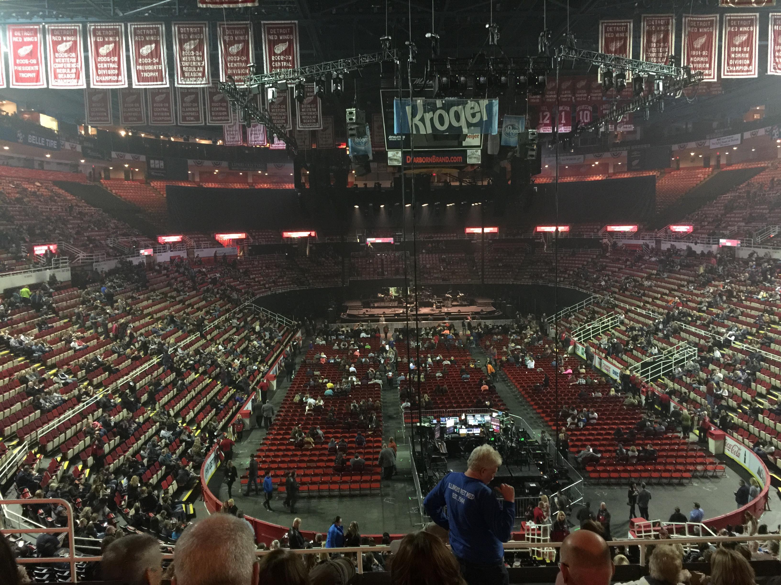 Joe Louis Arena Section 201 Row 8 Seat 8
