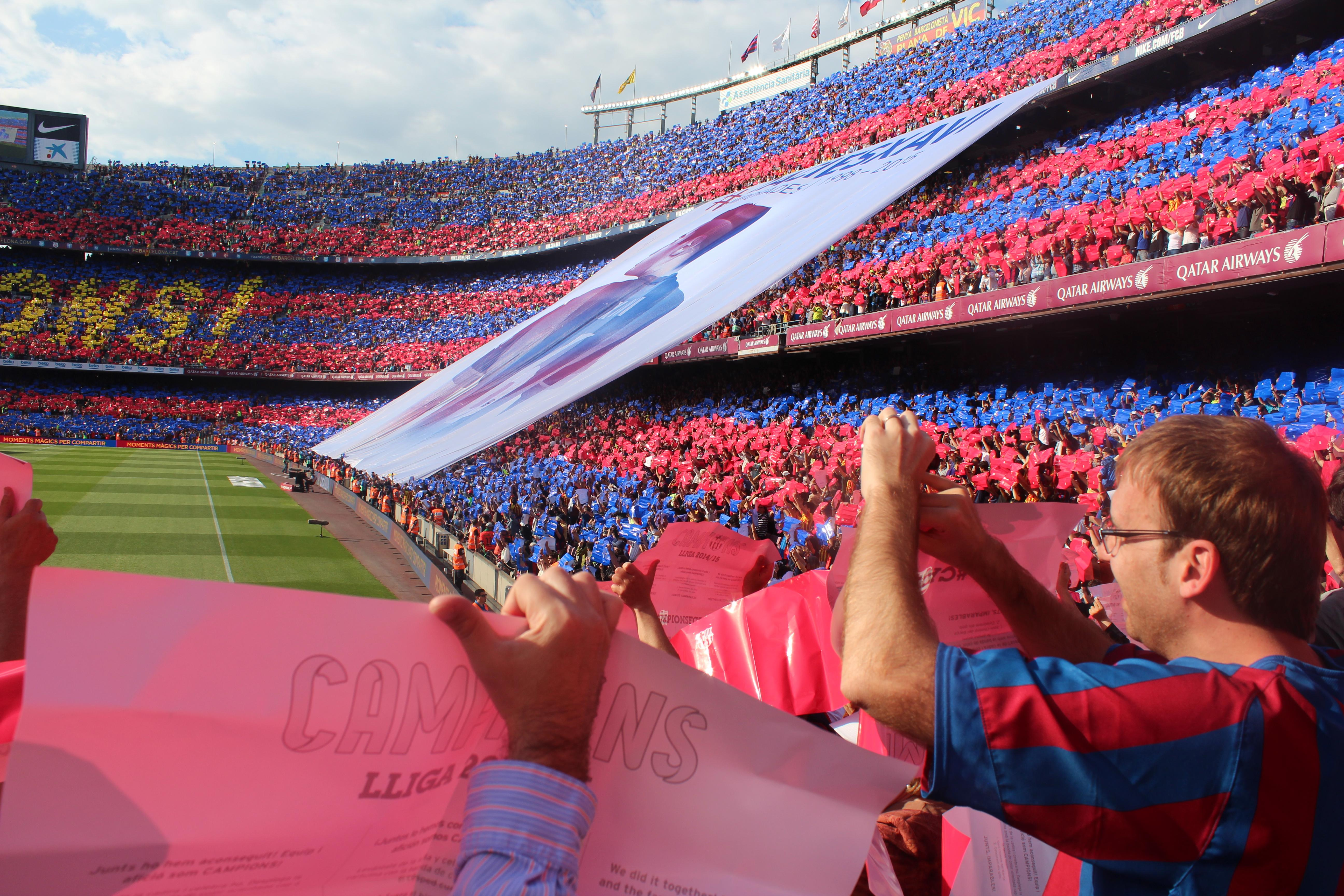 Camp Nou Section 123 Row 7 Seat 14