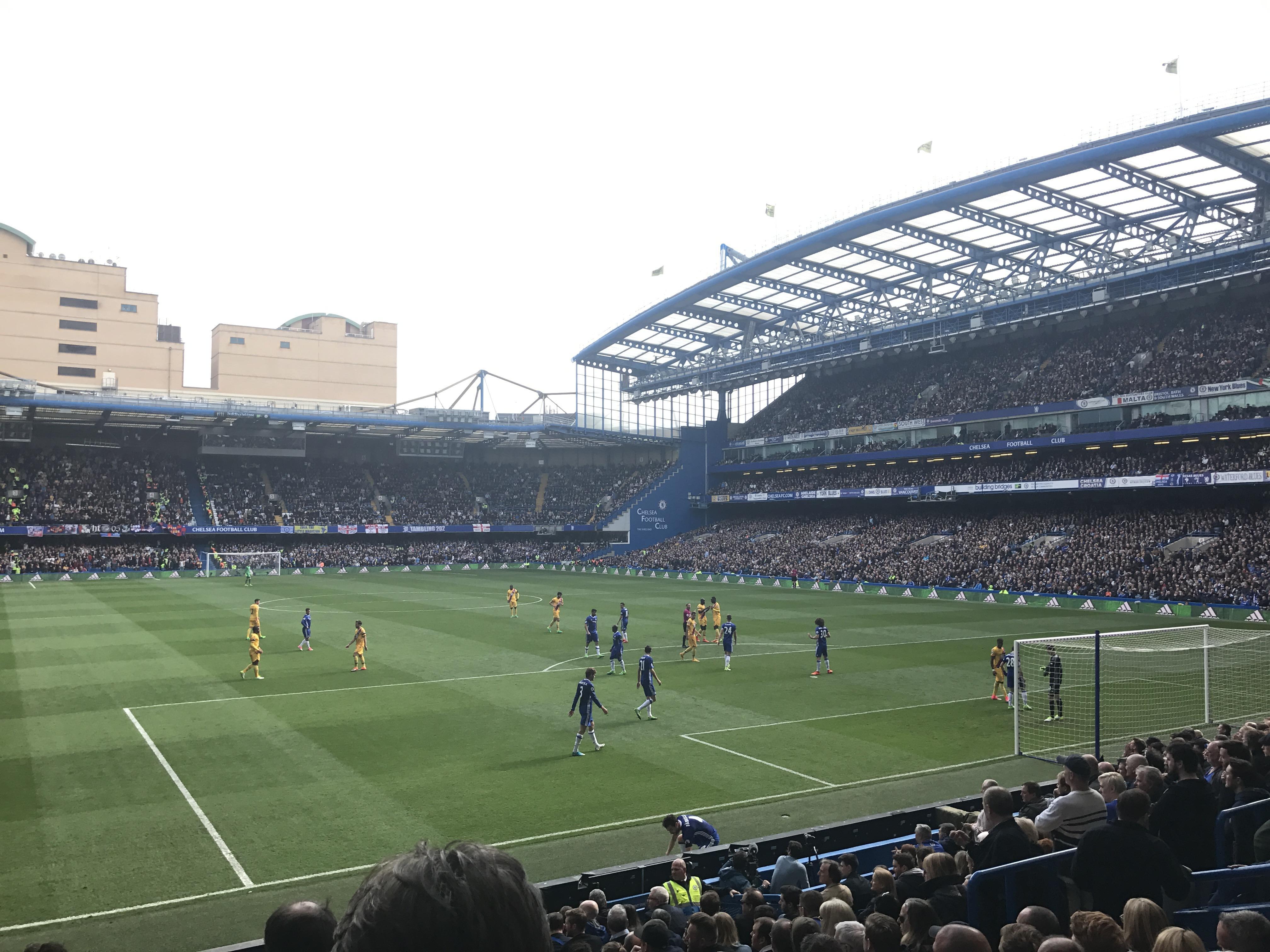 Stamford Bridge Section Matthew Harding Lower 14 Row S Seat 131