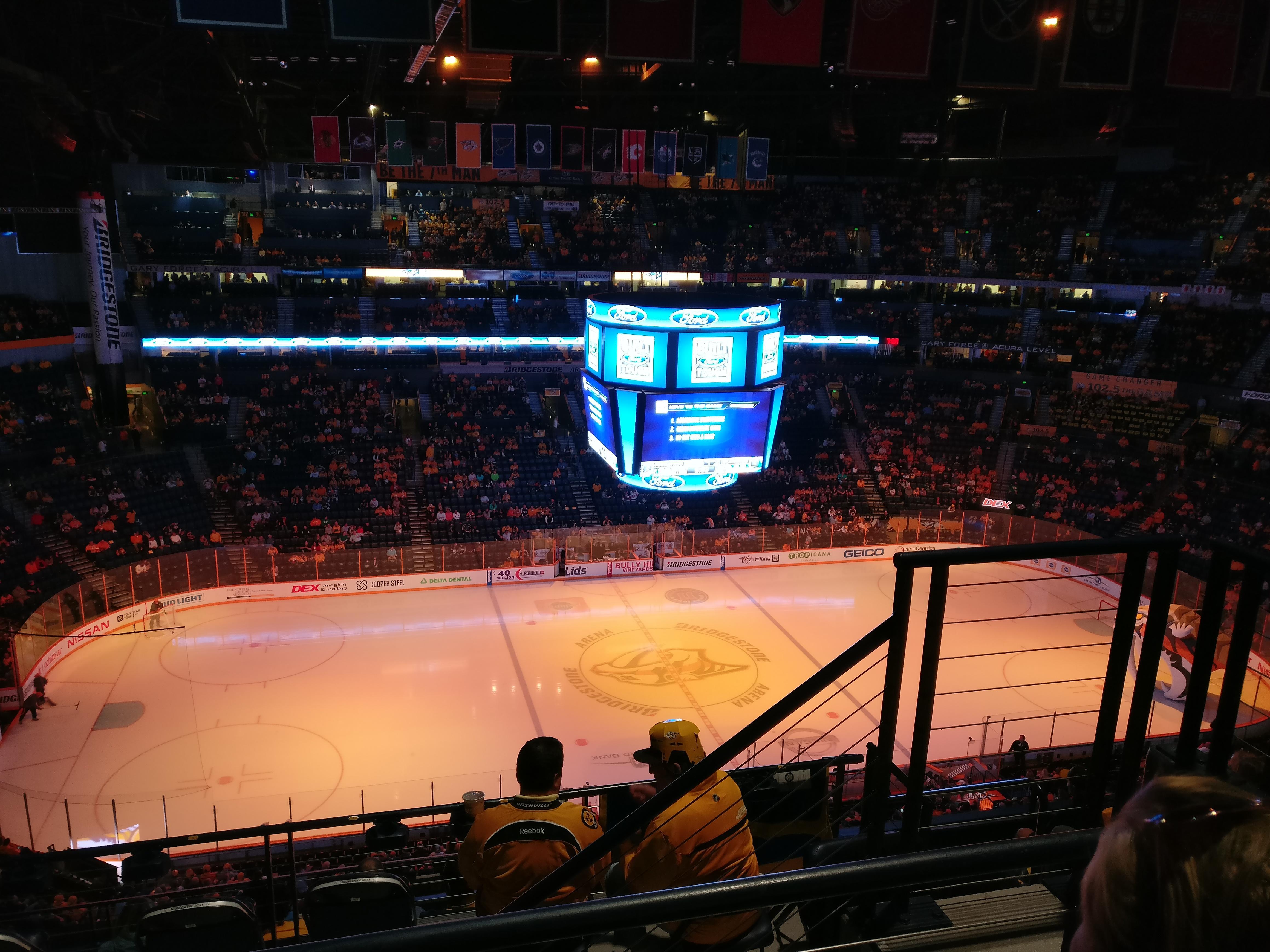Bridgestone Arena Section 324 Row H Seat 3