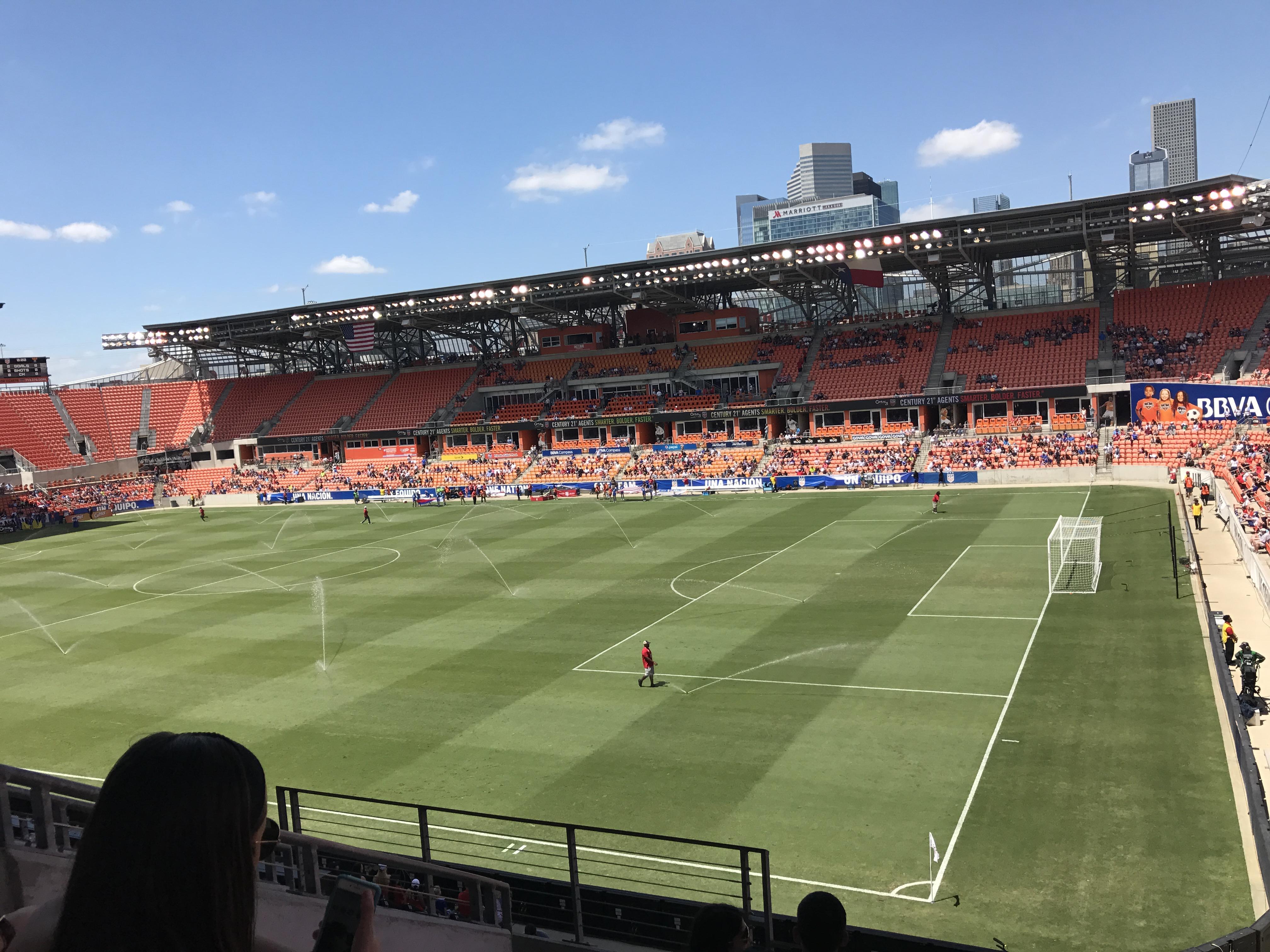 BBVA Stadium Section 103 Row F Seat 27