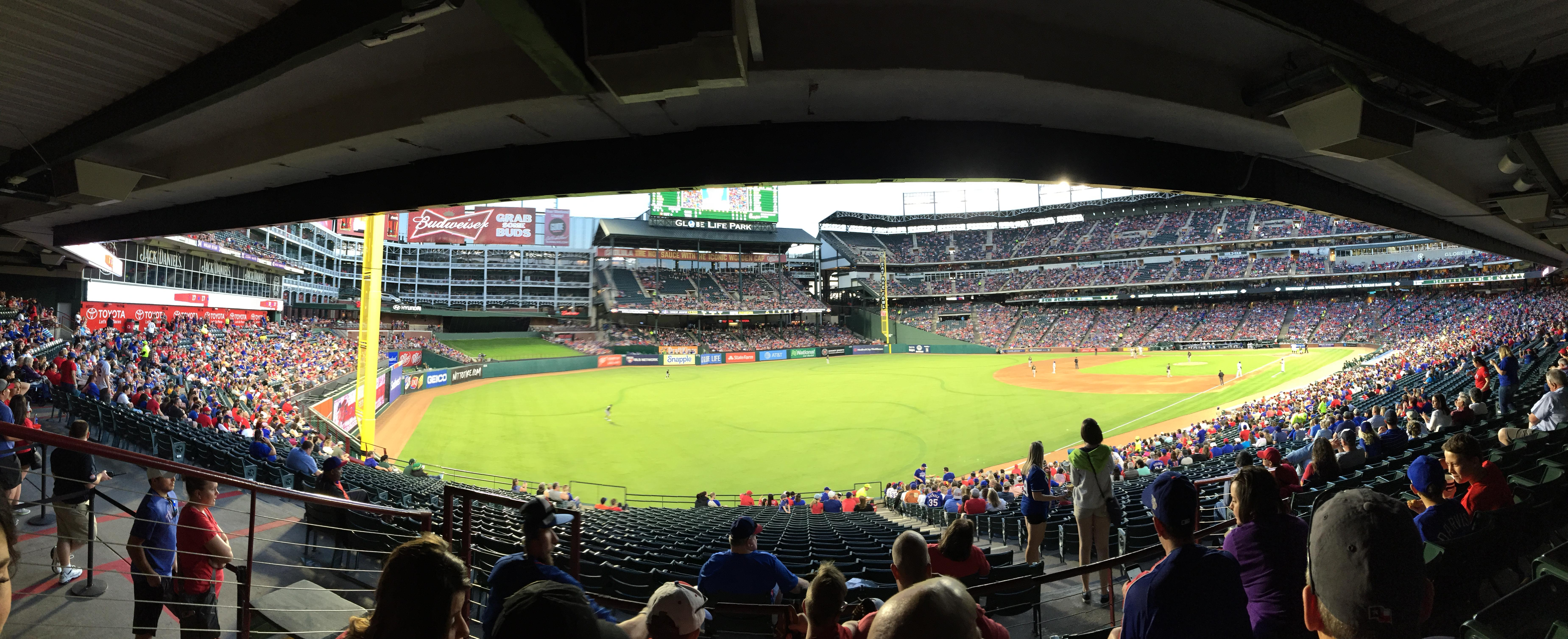 Globe Life Park in Arlington Section 112 Row 36 Seat 3