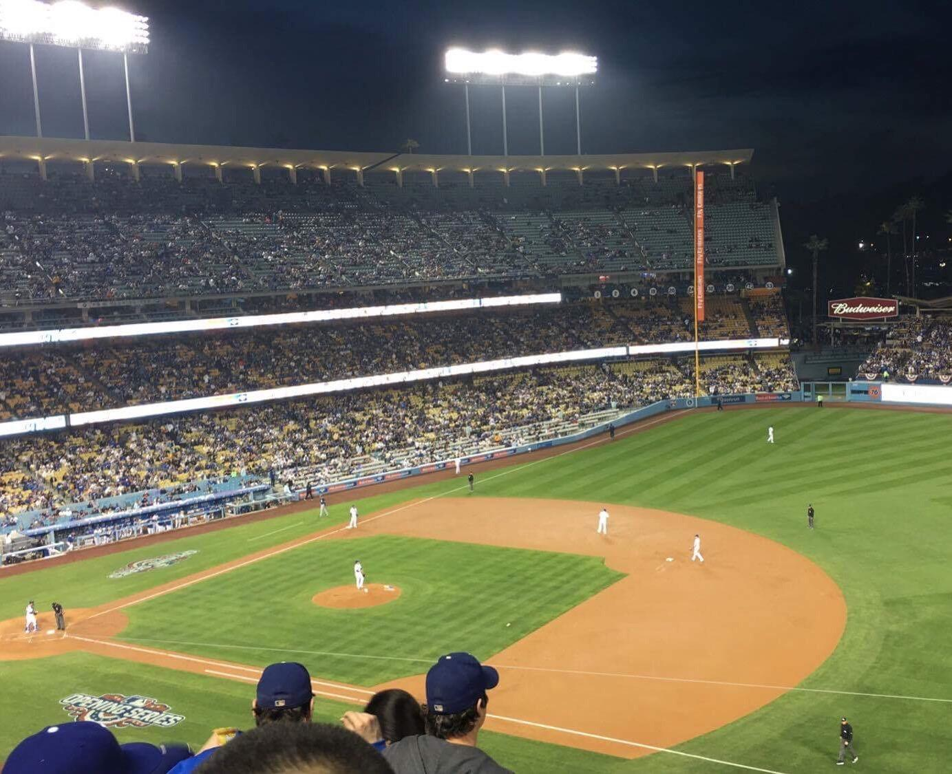 Dodger Stadium Section 28RS Row E Seat 18
