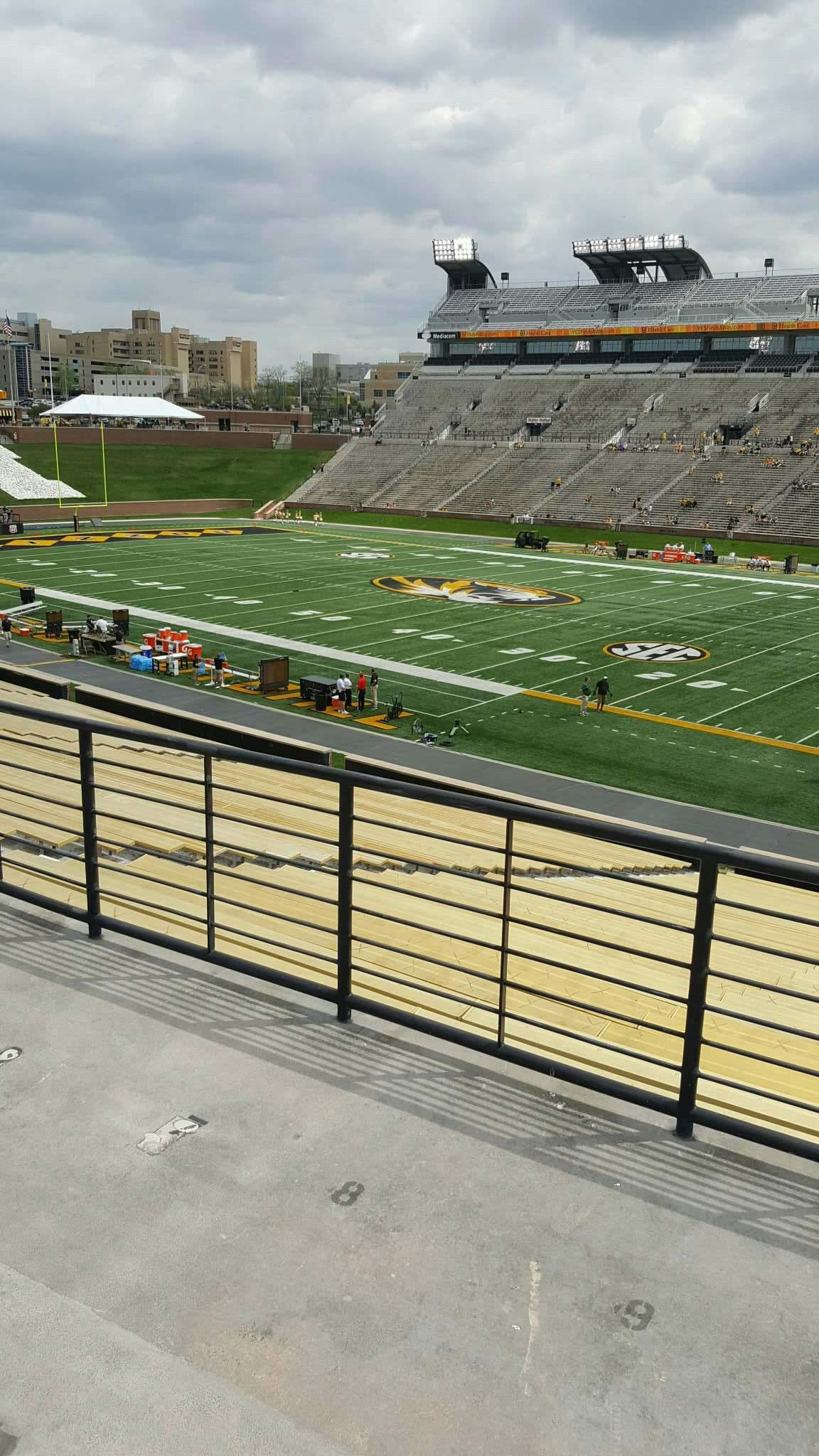 Faurot Field Section 124 Row 40 Seat 10