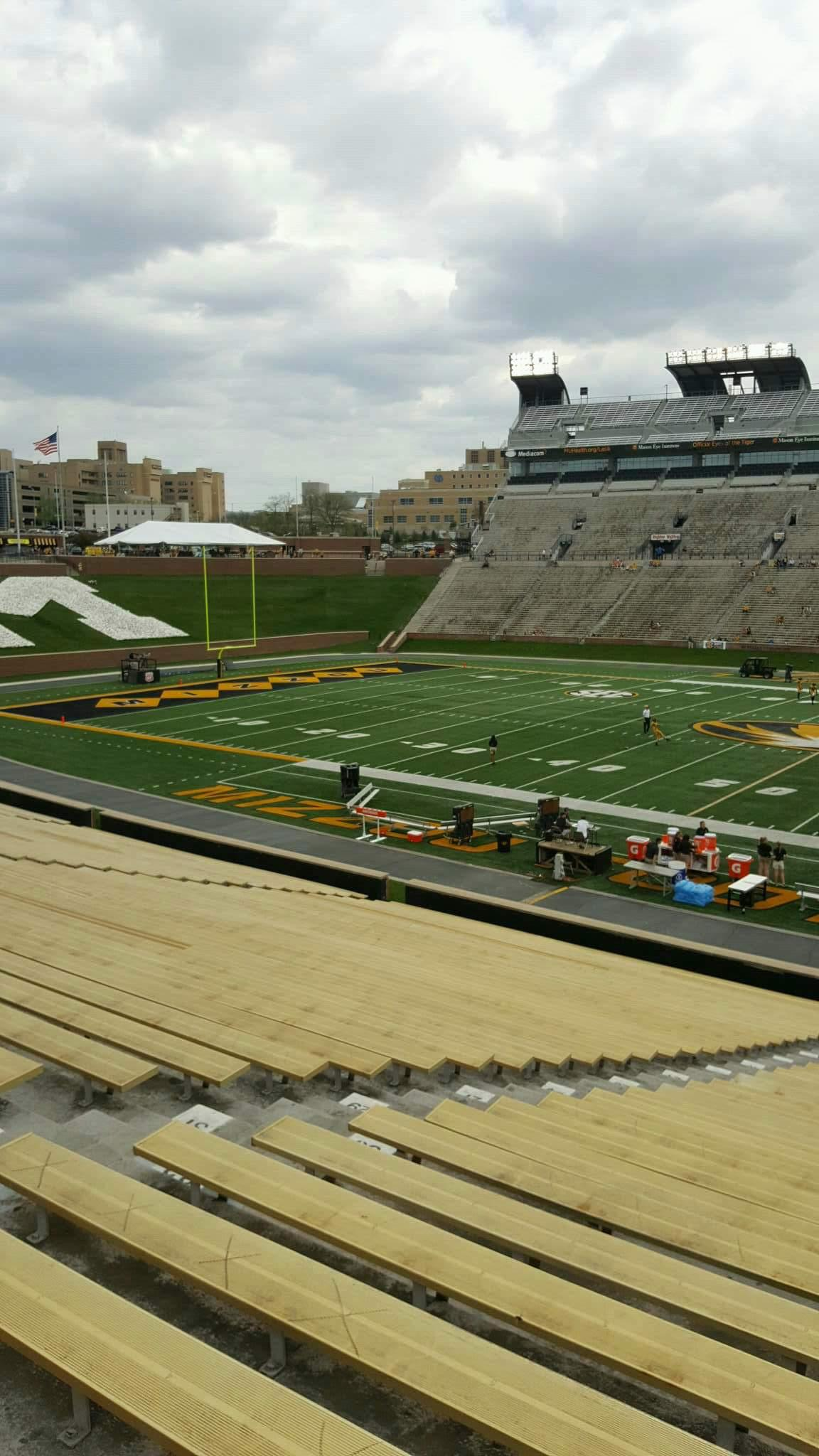 Faurot Field Section 122 Row 37 Seat 25