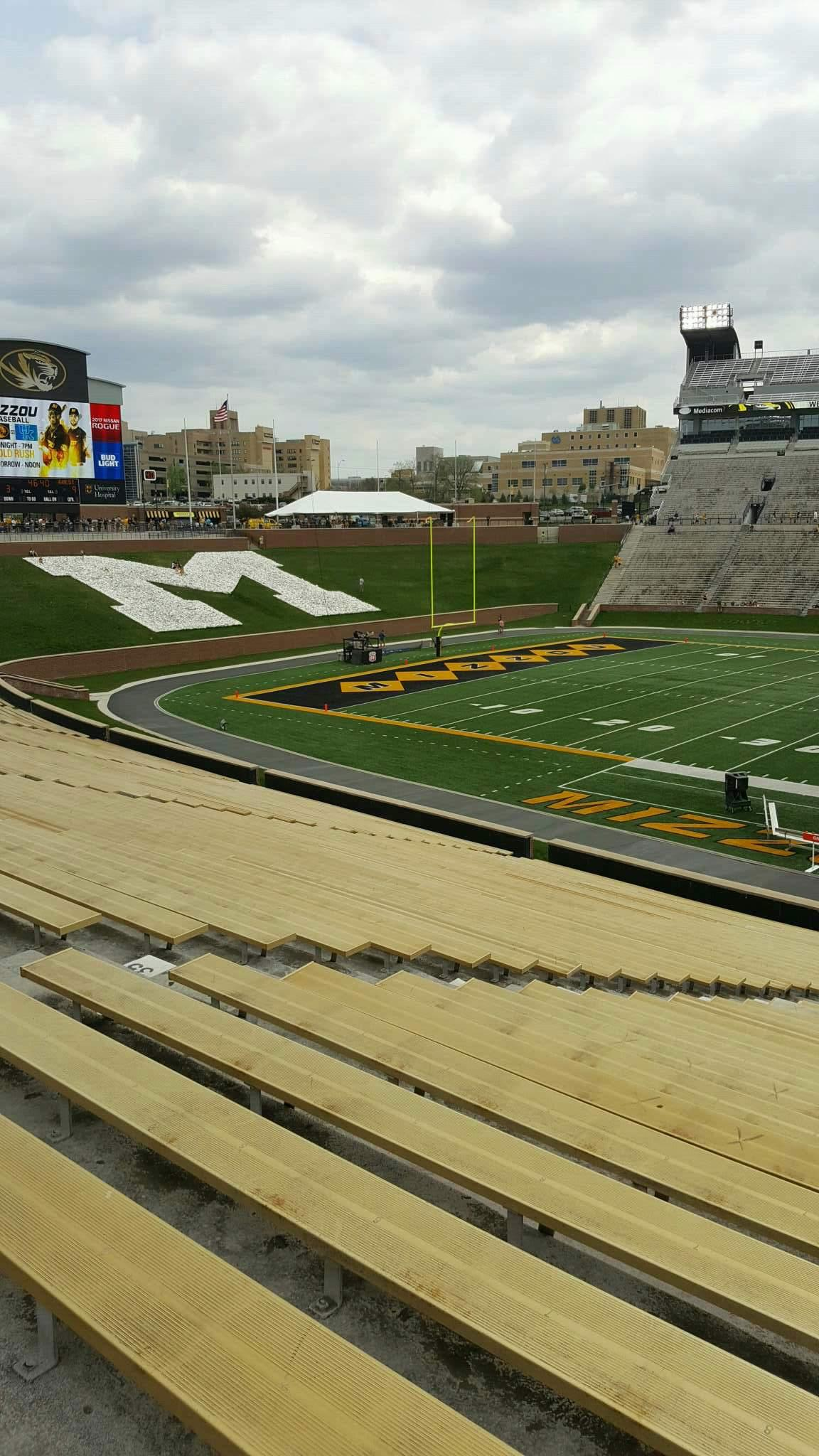 Faurot Field  Section 121 Row 39 Seat 21