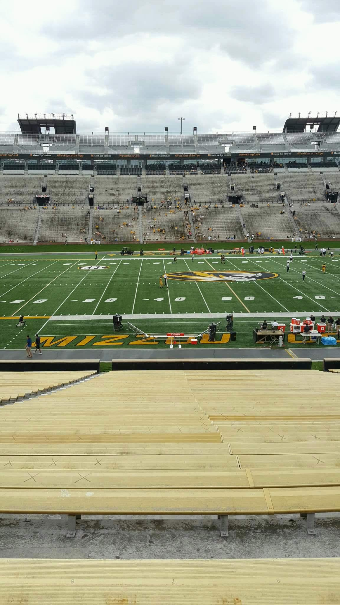 Faurot Field  Section 120 Row 42 Seat 21